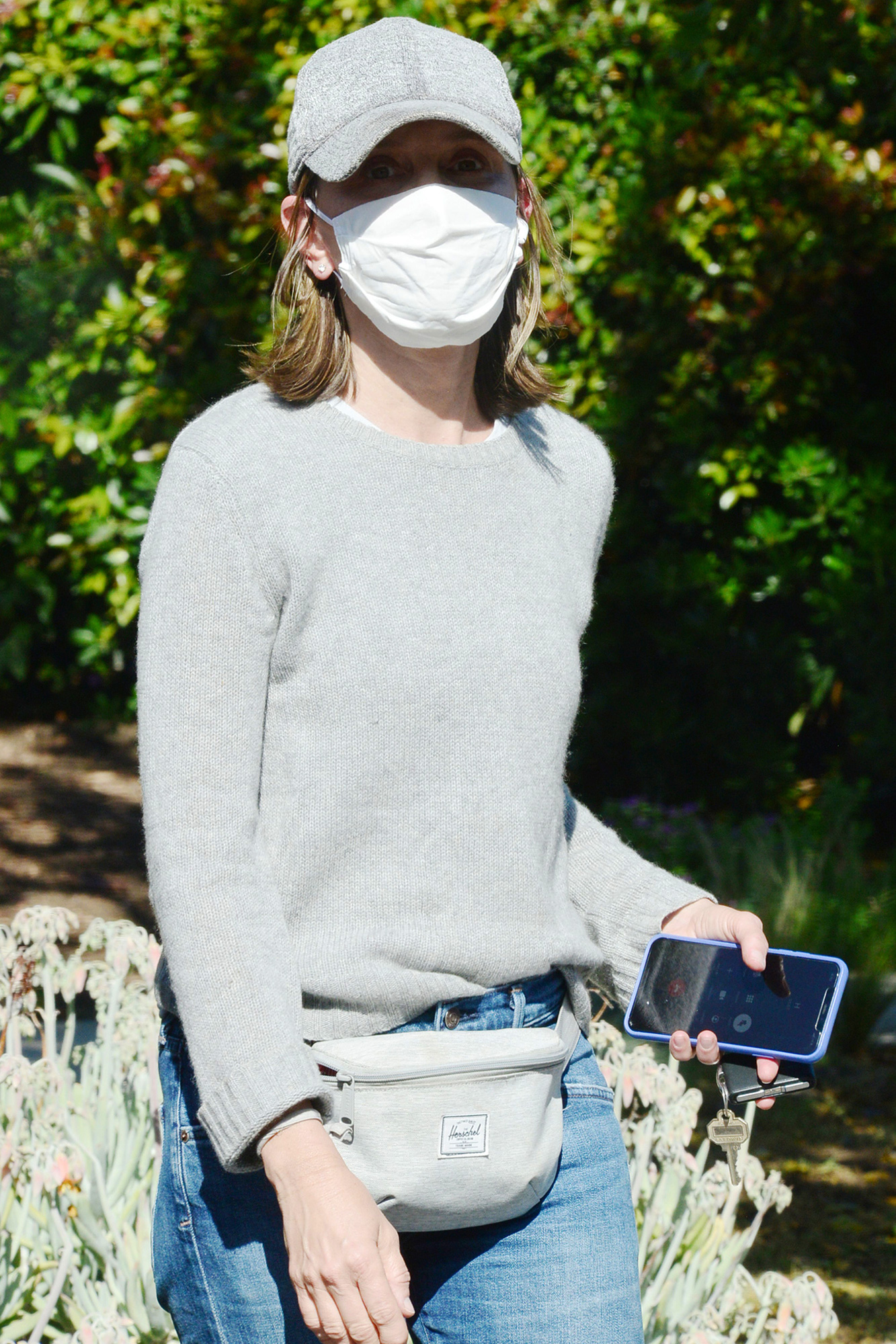 Calista Flockhart out and about, Santa Monica, USA - 18 May 2020