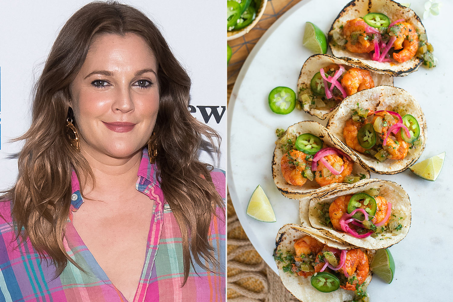 Drew Barrymore, fish tacos