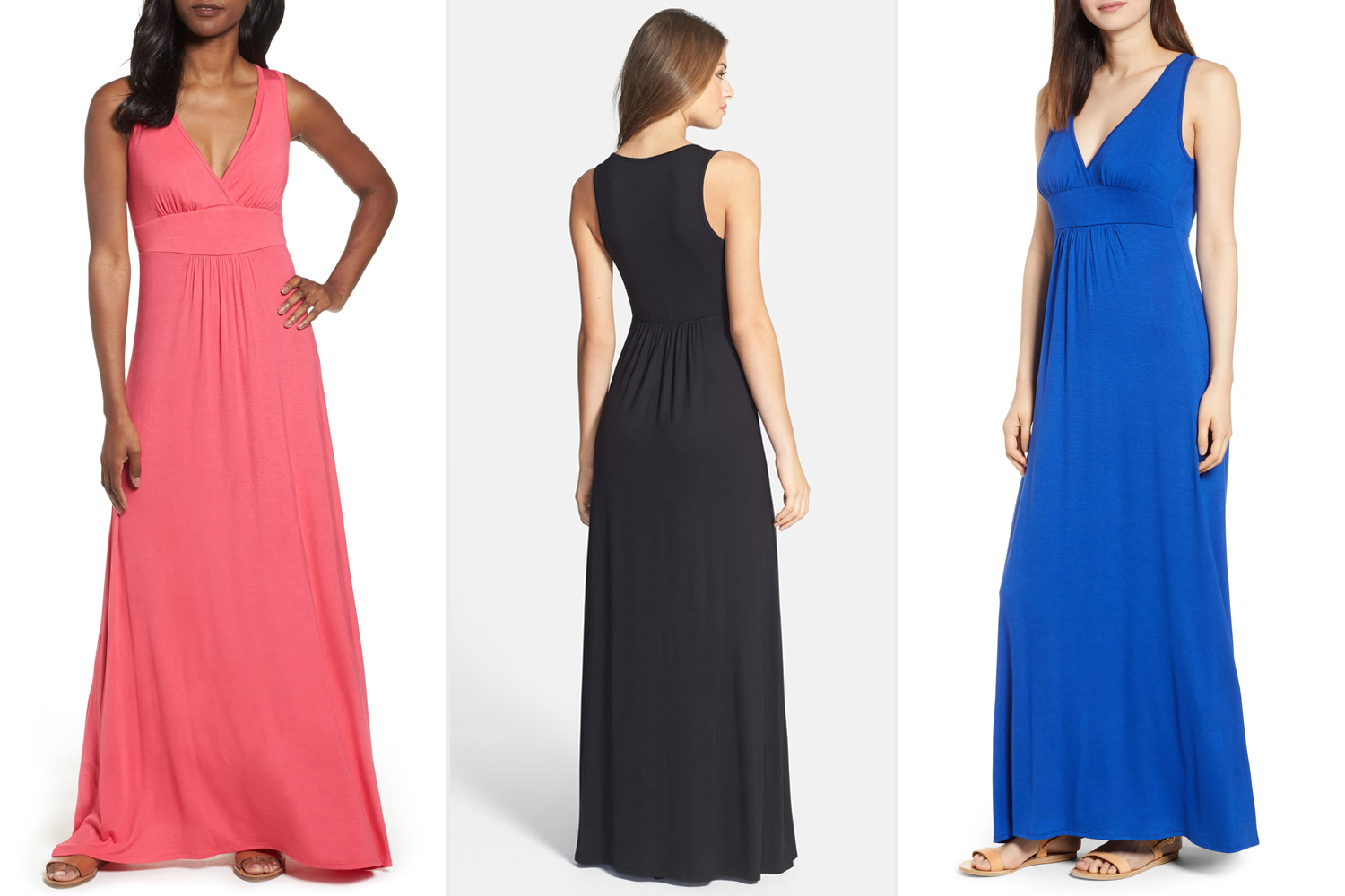 V-Neck Jersey Maxi Dress LOVEAPPELLA