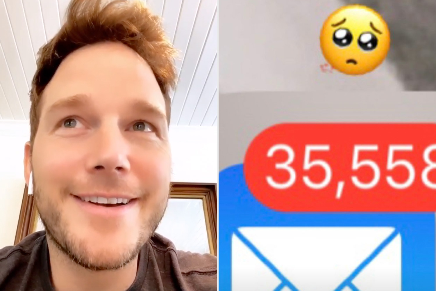 chris pratt's son roasts him over unread emails and then he deletes them all
