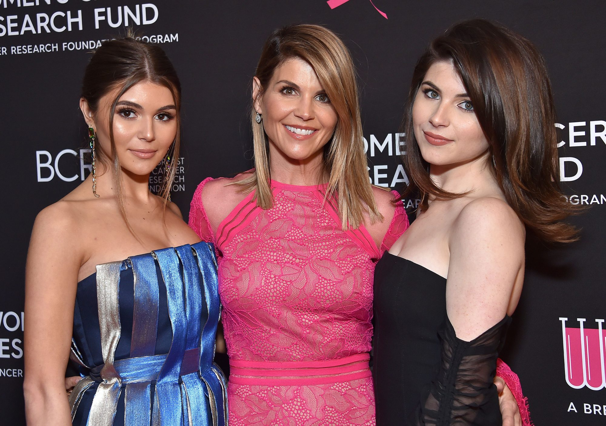 From left: Olivia Jade, Lori Loughlin and Bella Giannulli in February 2019
