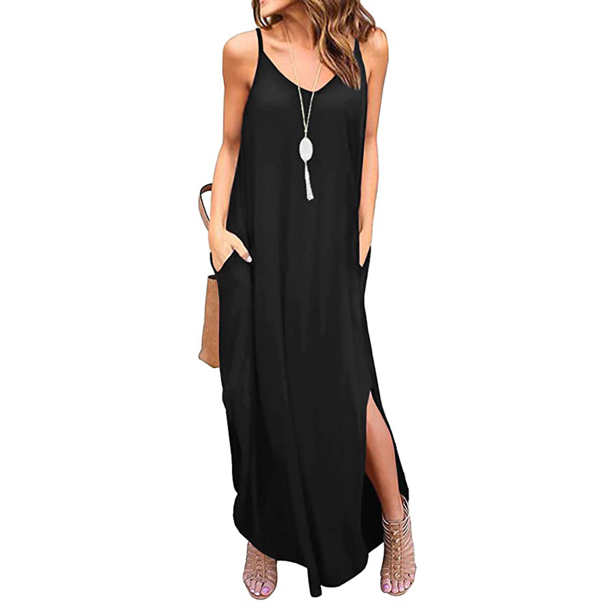 cami black maxi dress amazon sale