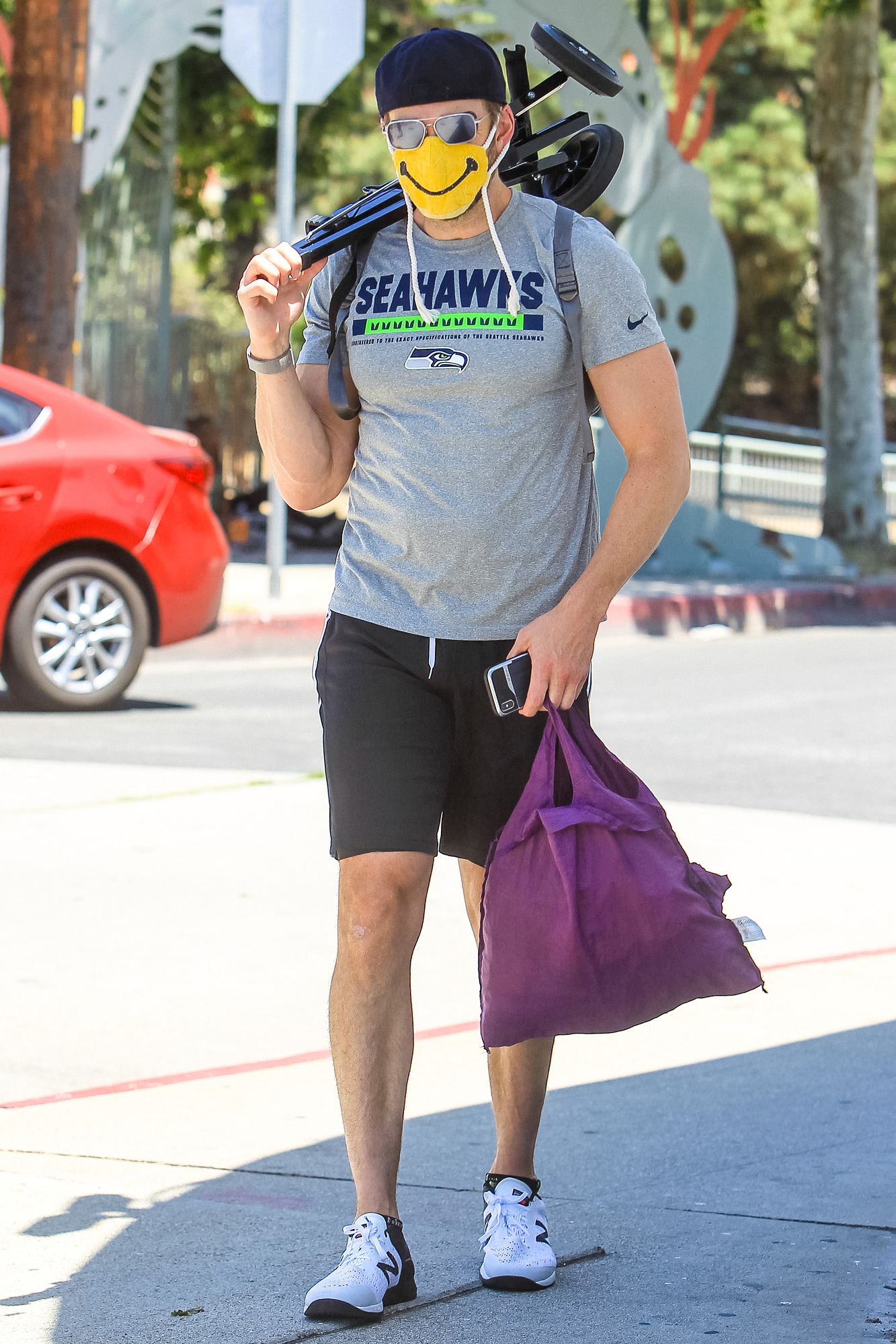 Joel McHale is seen on May 24, 2020 in Los Angeles