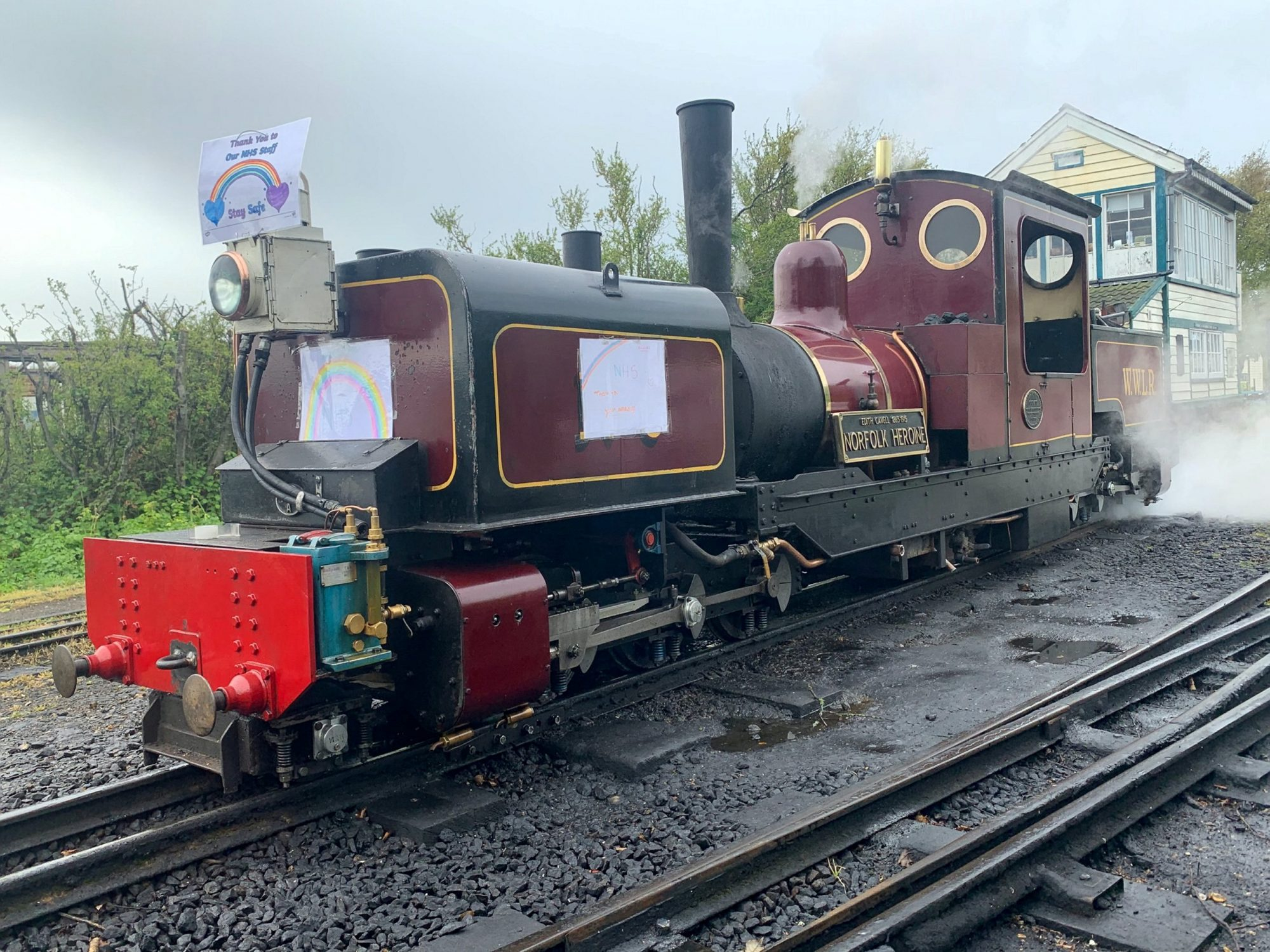 Matthew Armstrong, 29, has spent the last seven weeks essentially playing with his own life-sized train set while he lives at a popular steam railway tourist attraction.