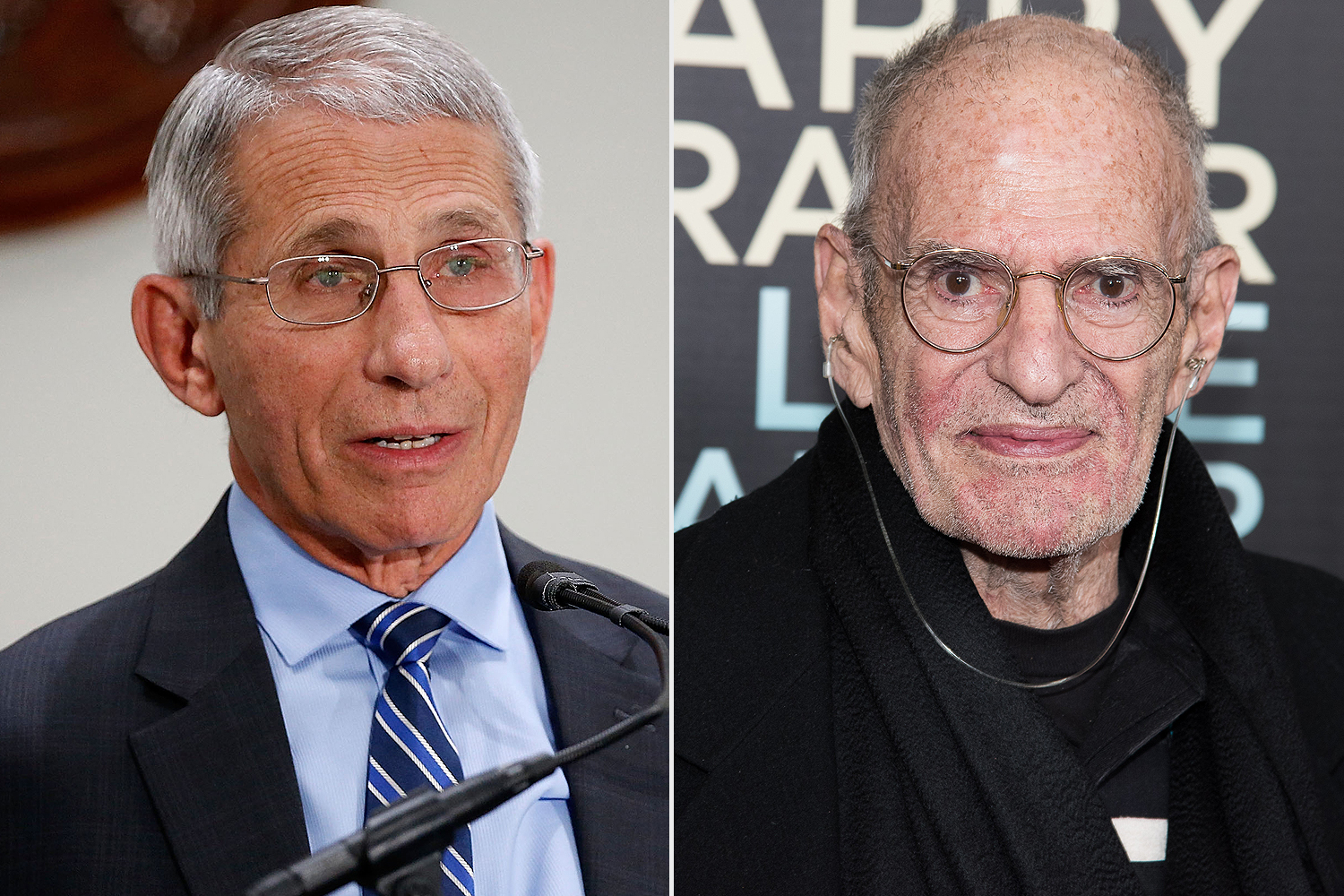 Anthony Fauci, Larry Kramer