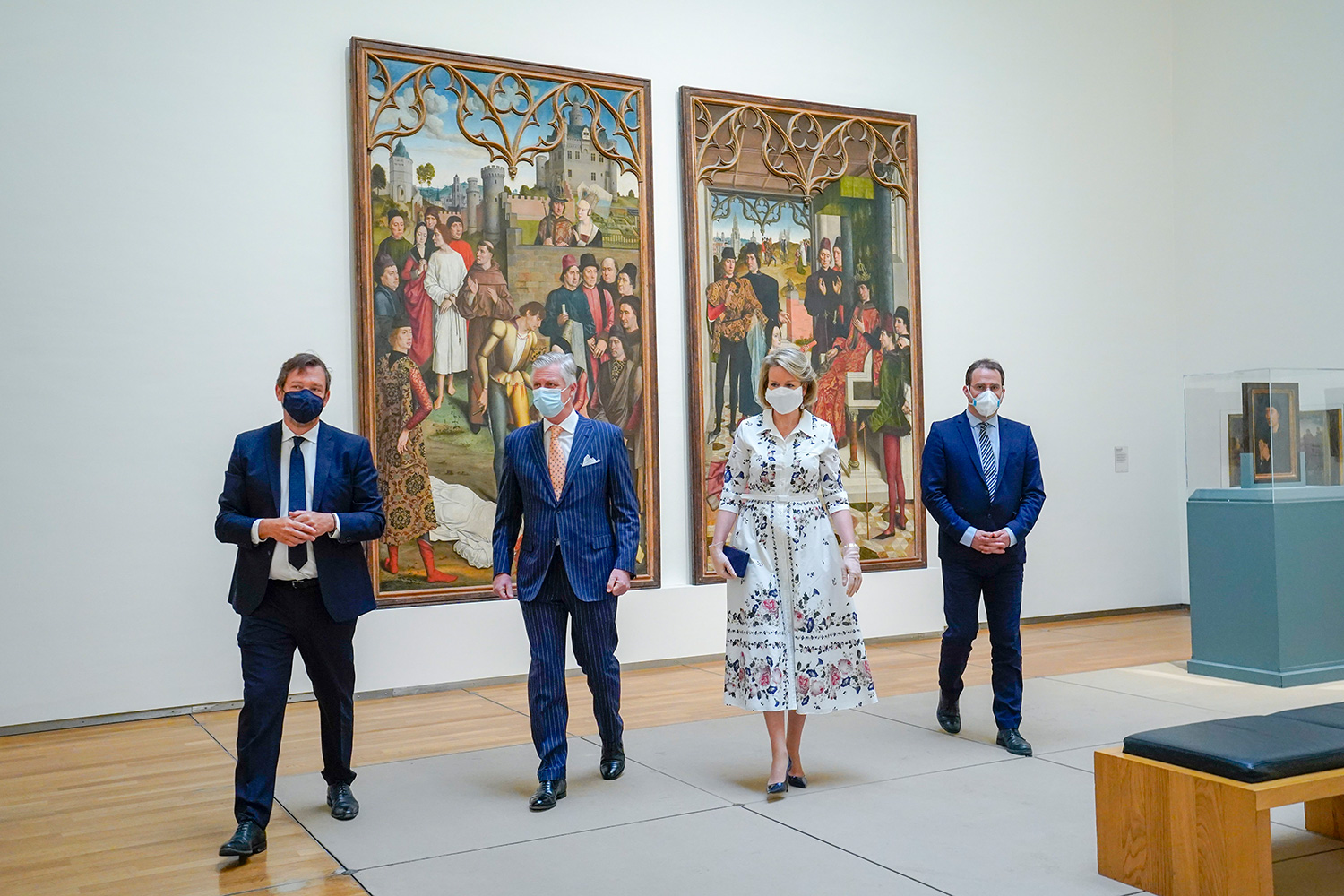 Their Majesties the King and the Queen visit the Royal Museum of Fine Arts of Belgium