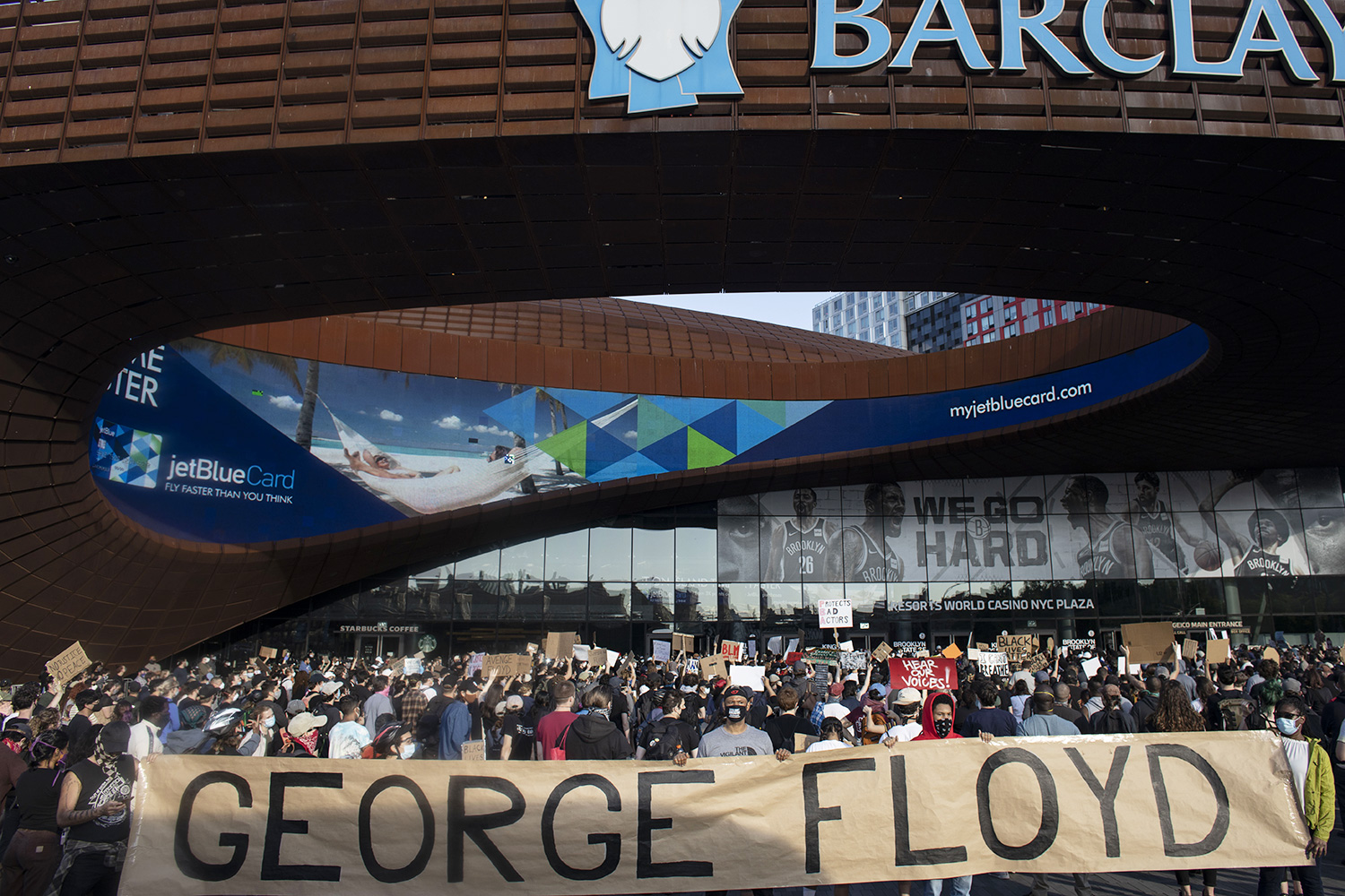 protest against police killing of George Floyd in NYC