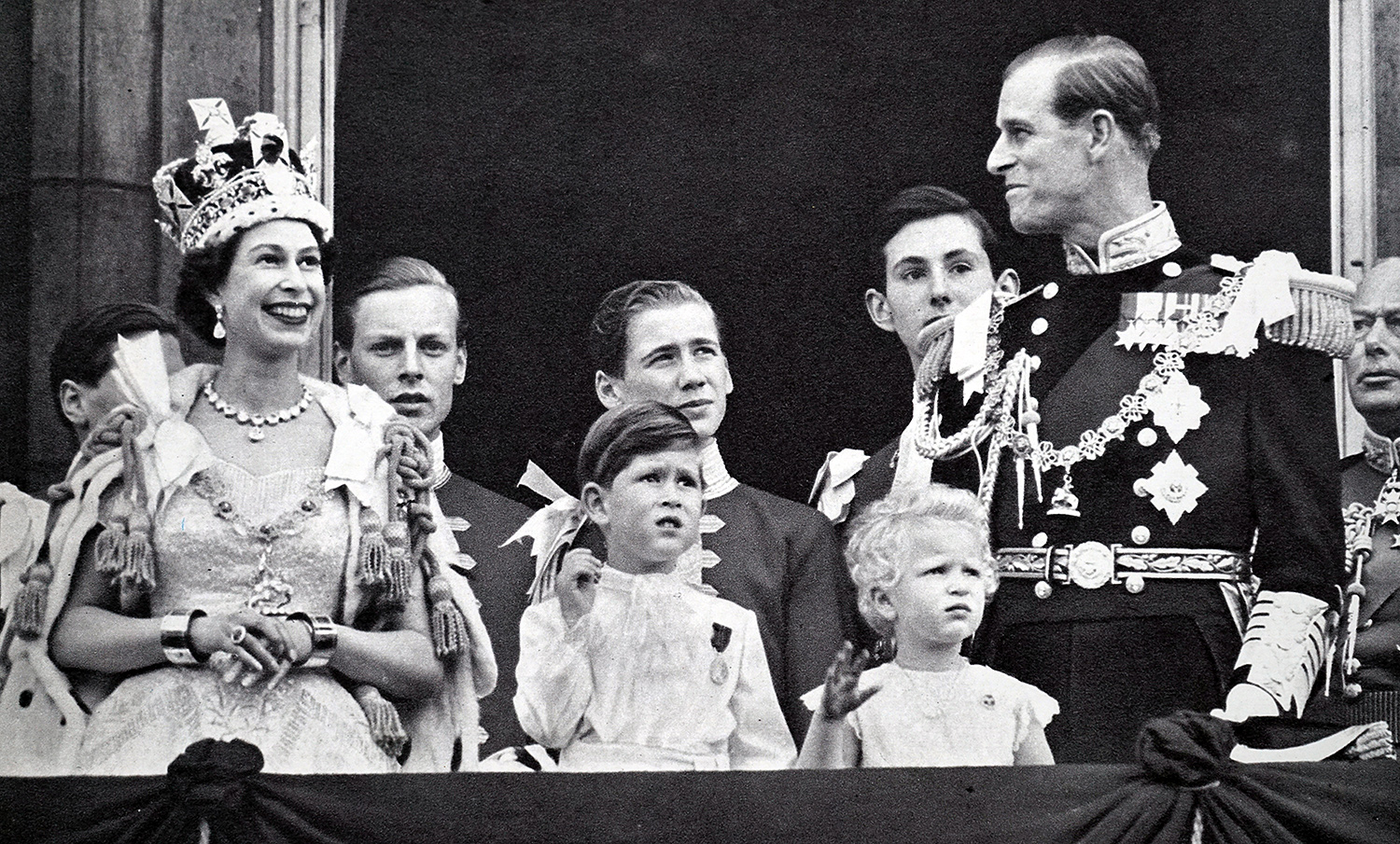 Queen Elizabeth, Prince Charles, Princess Anne and Prince Philip