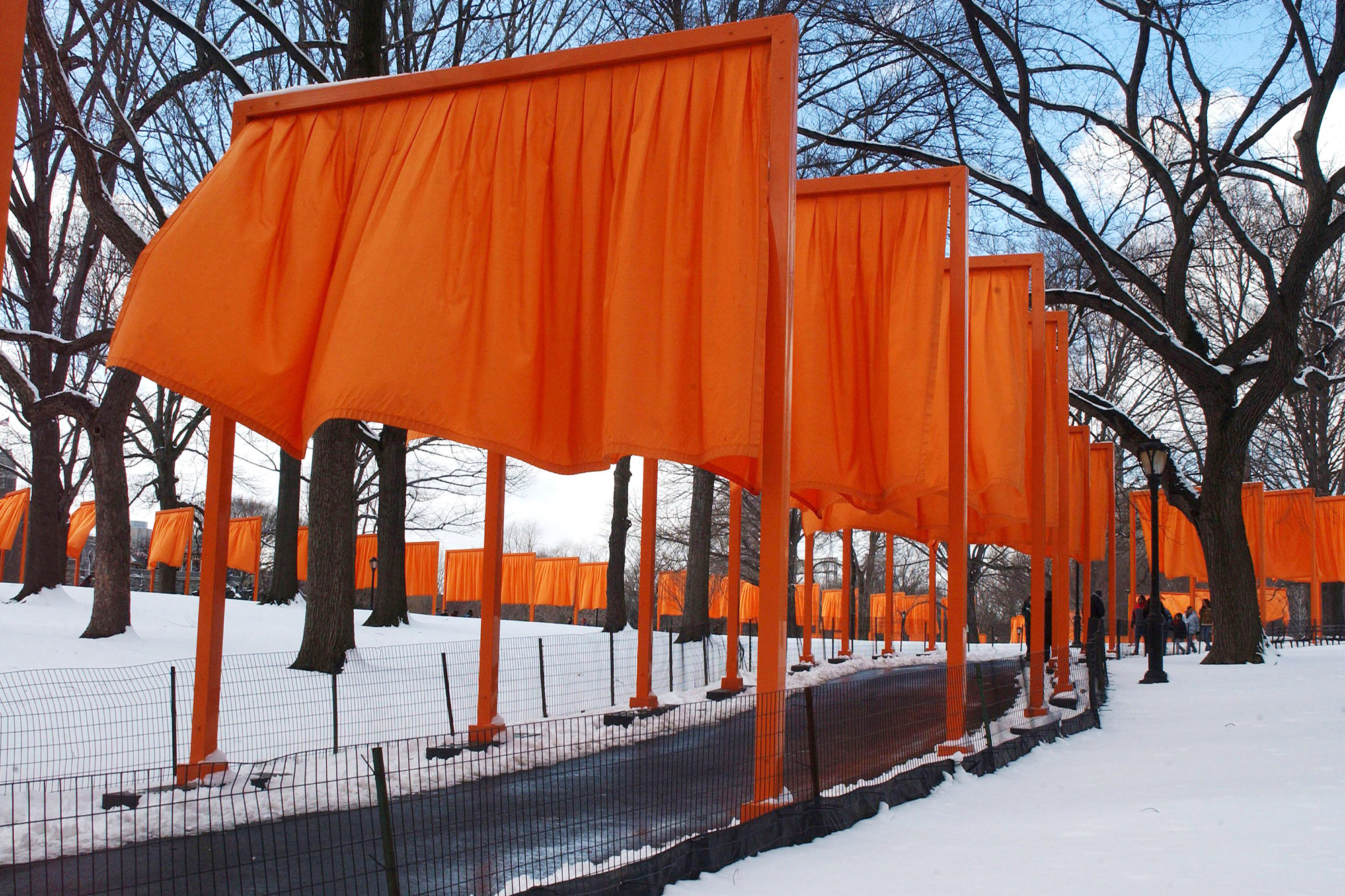 JEANNE CLAUDE AND CHRISTO 'THE GATES' ART PROJECT, CENTRAL PARK, NEW YORK, AMERICA - 25 FEB 2005