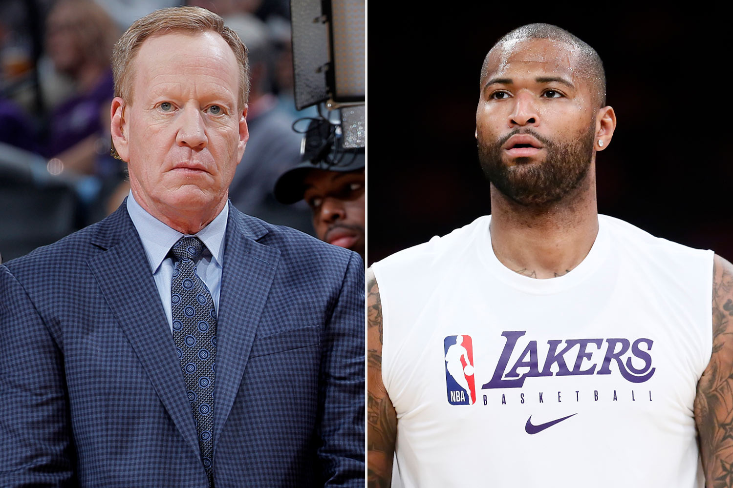 Grant Napear and DeMarcus Cousins