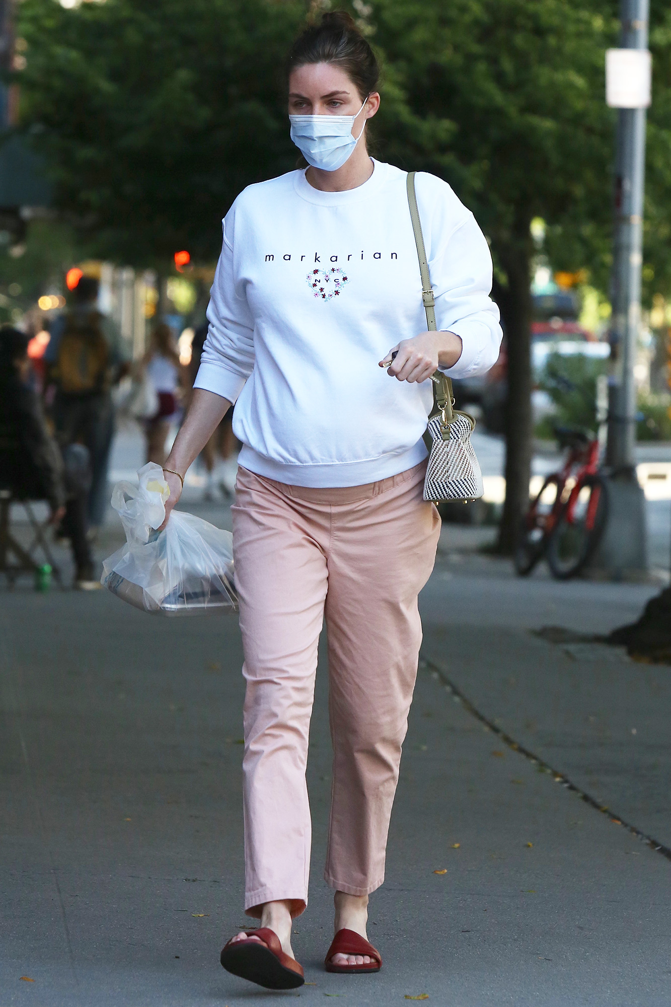 Hilary Rhoda Picking up Takeout