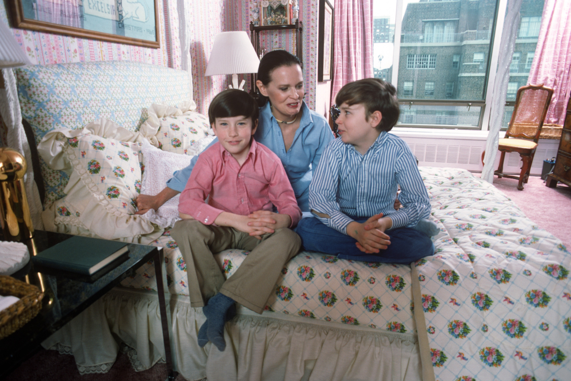 Anderson looks grown up in a red button-down in his family's New York City apartment in 1976.