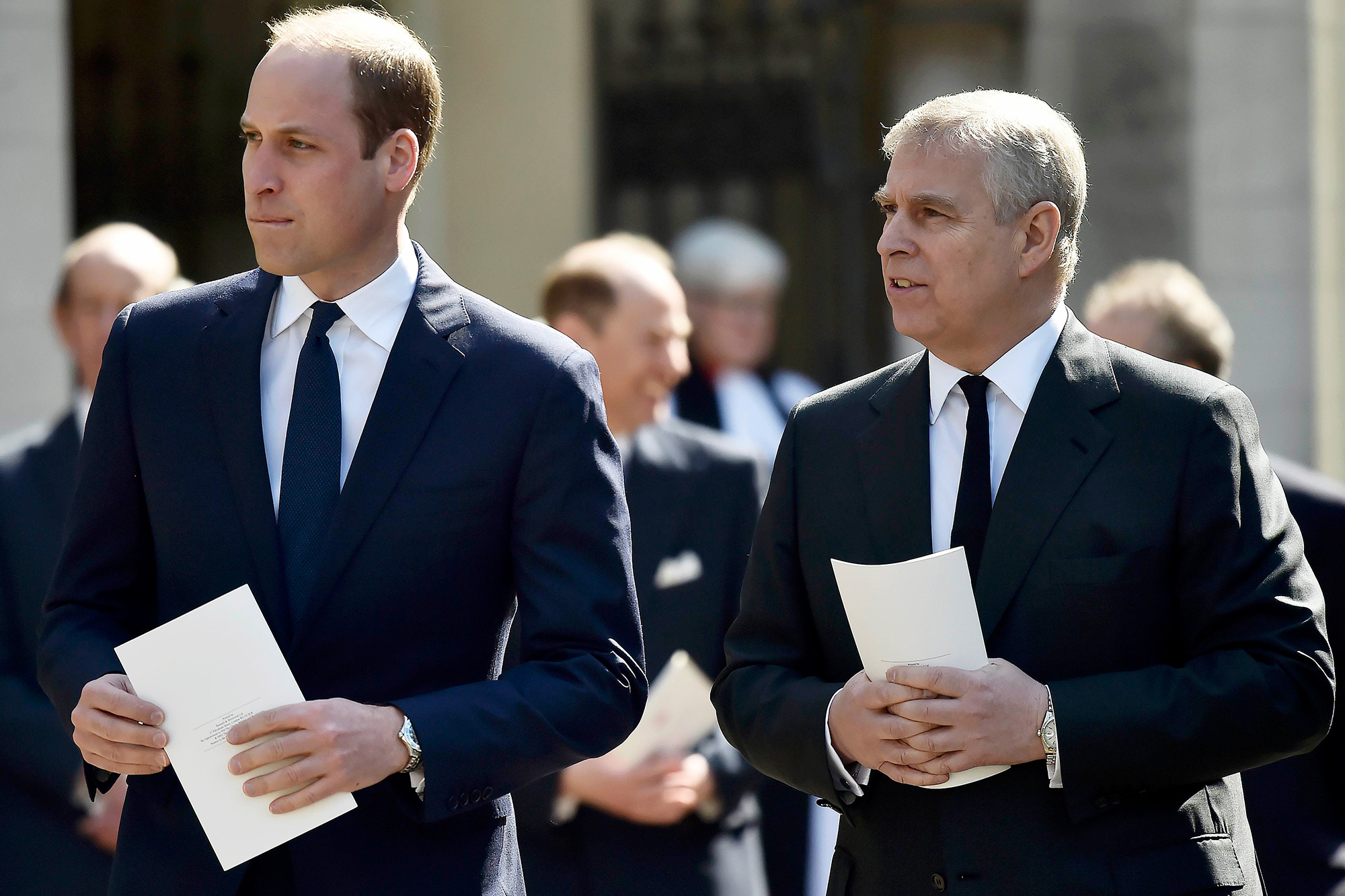 Prince William, Duke of Cambridge and Prince Andrew, Duke of York