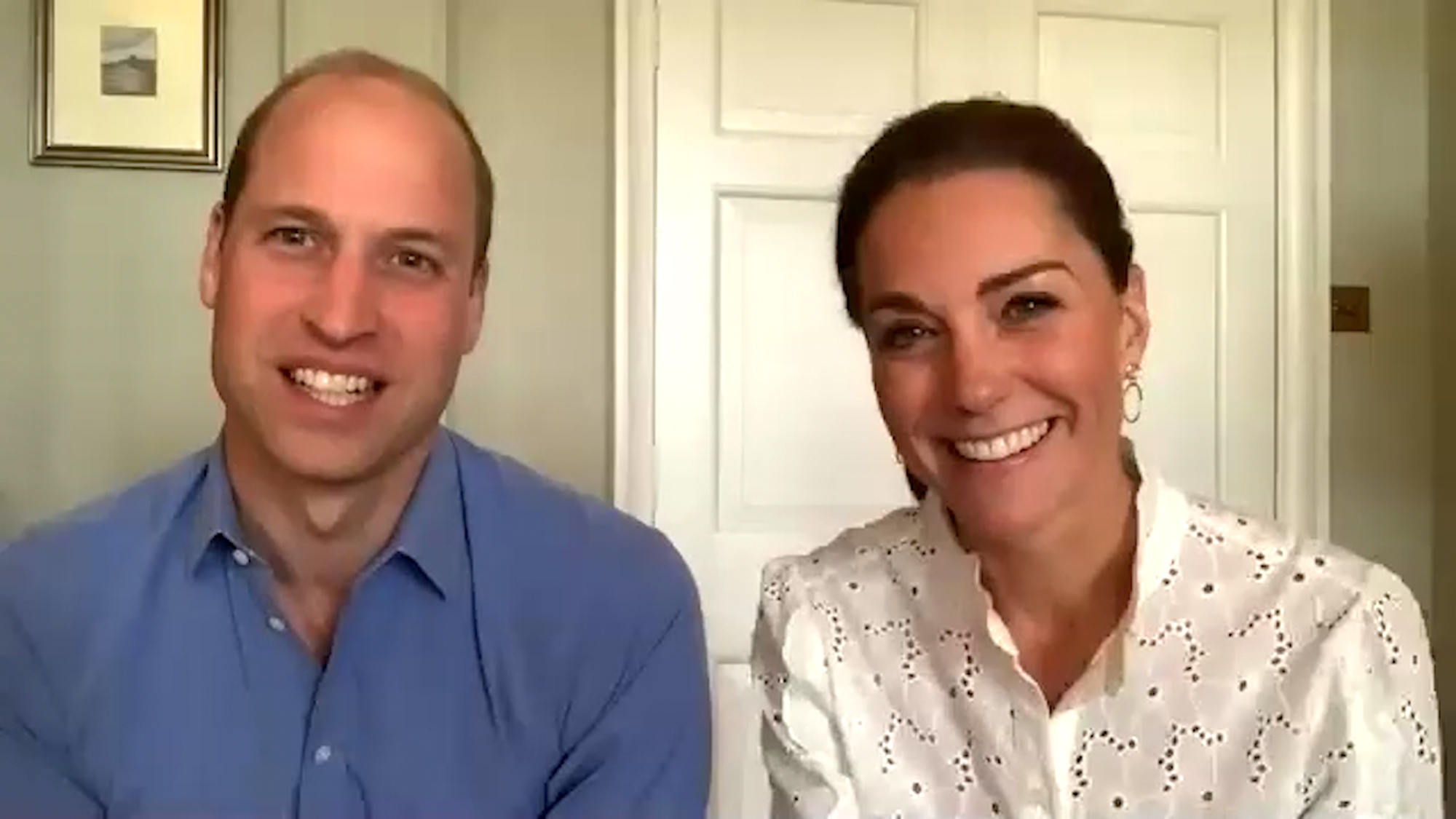 William, Duke of Cambridge and Catherine, Duchess of Cambridge take a call with charities
