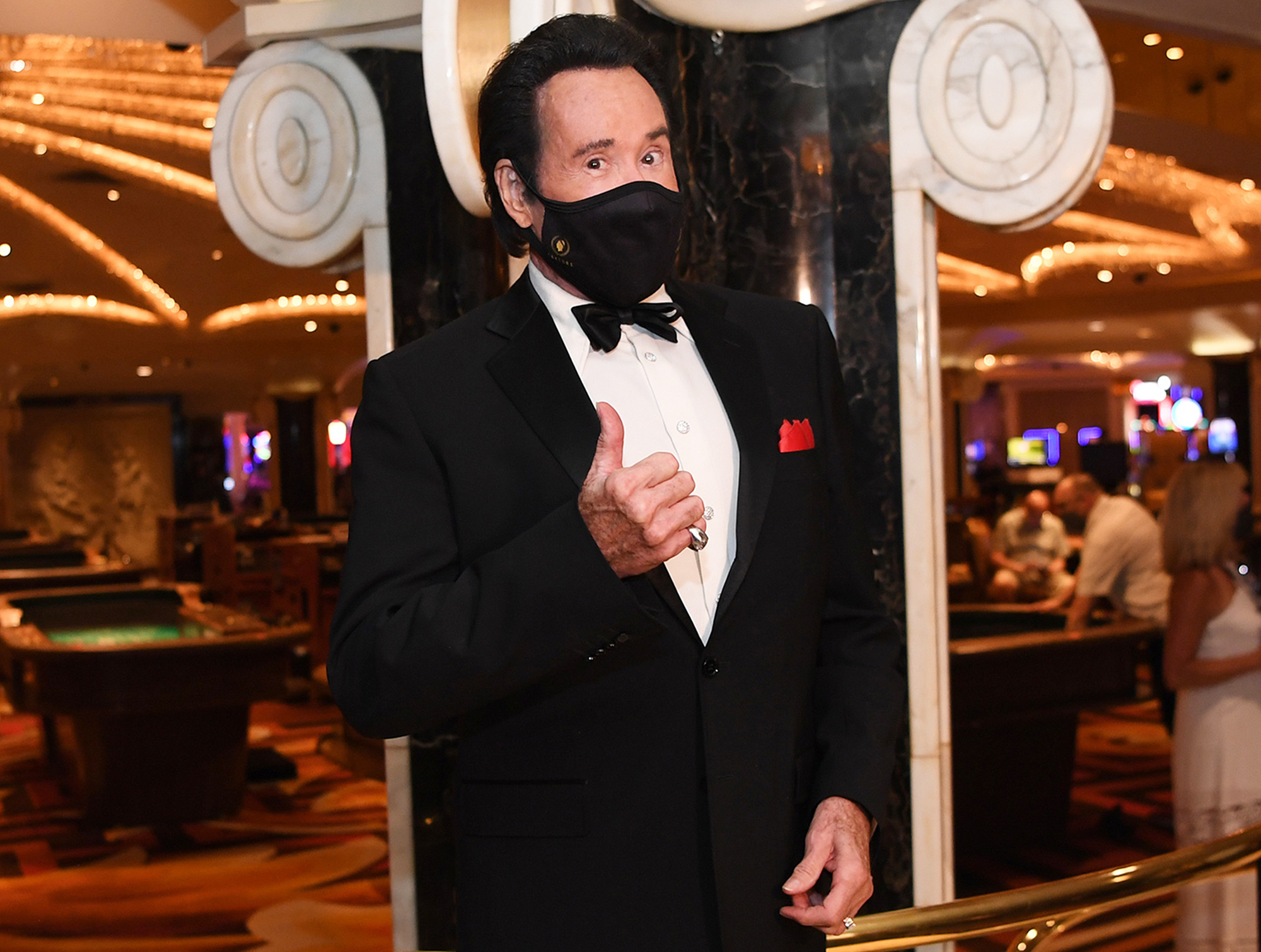 Wayne Newton poses for a photo at the reopening of Caesars Palace on June 4, 2020 in Las Vegas, Nevada