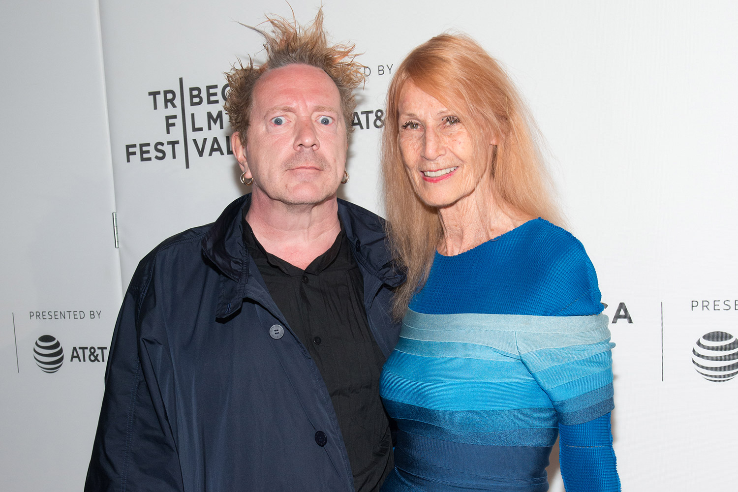 Johnny Rotten and wife Nora Forster