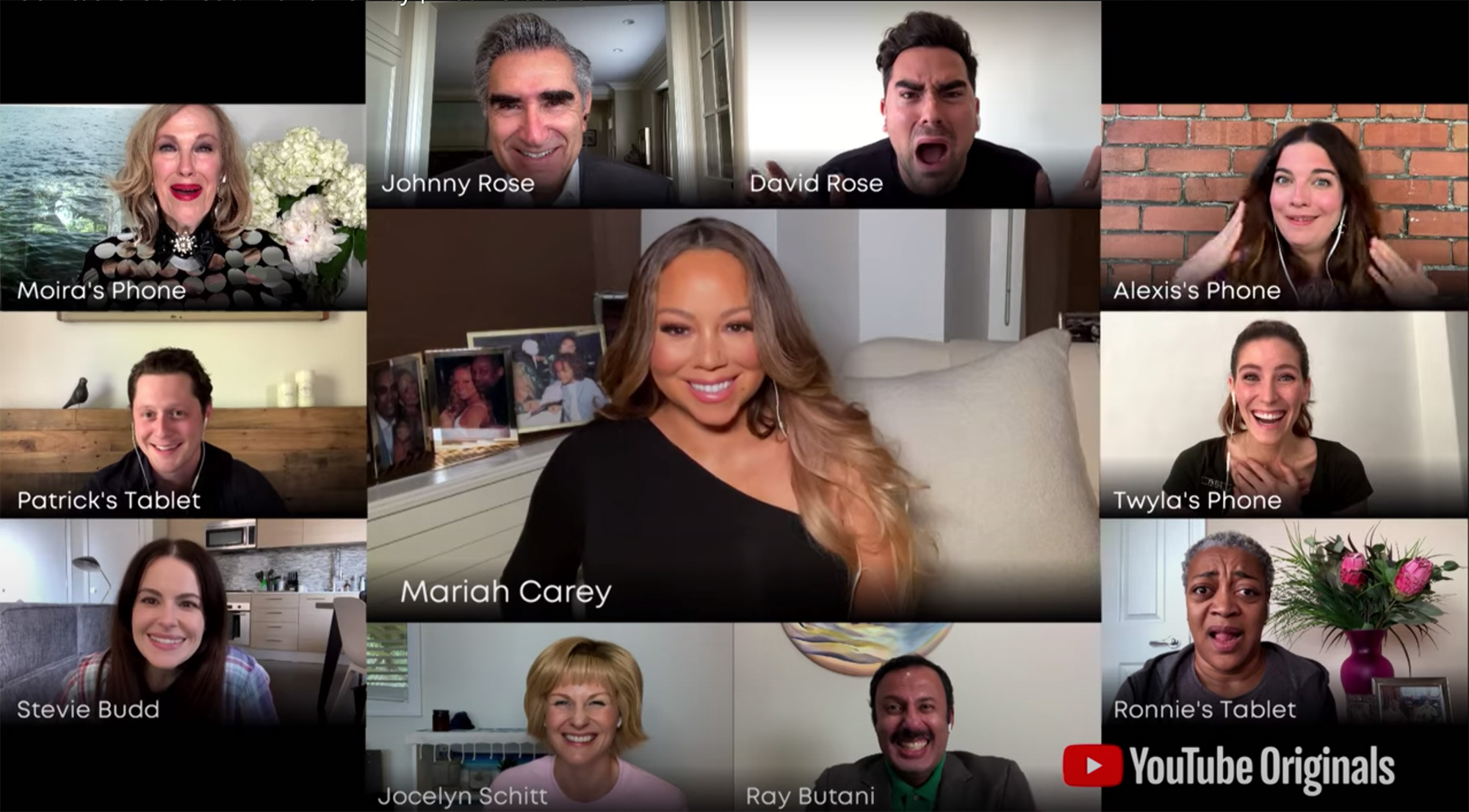 Mariah Carey Crashes Schitt's Creek Video Reunion