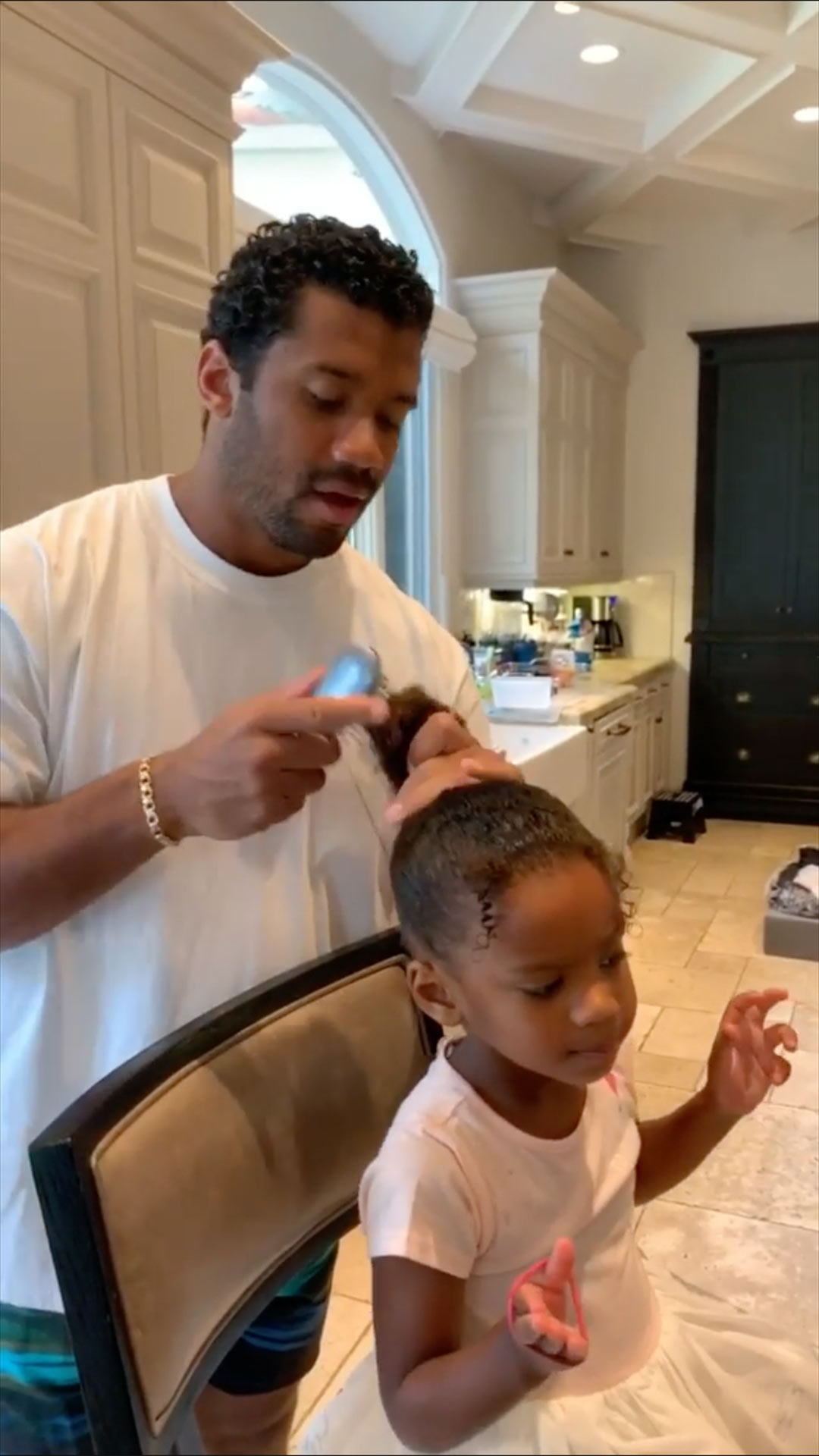 Russell Wilson and daughter
