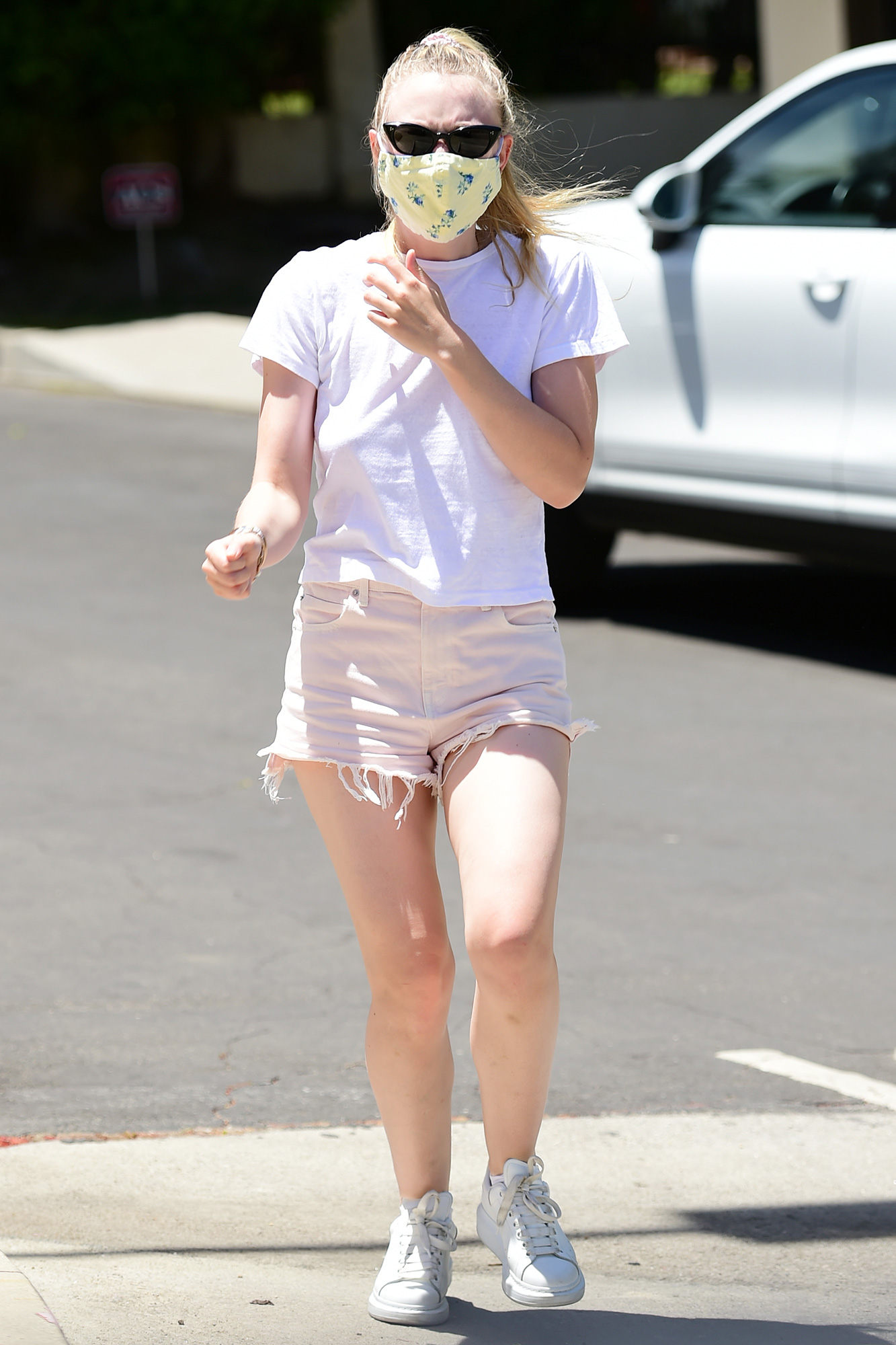 Dakota Fanning is Pictured Out and About in Los Angeles.