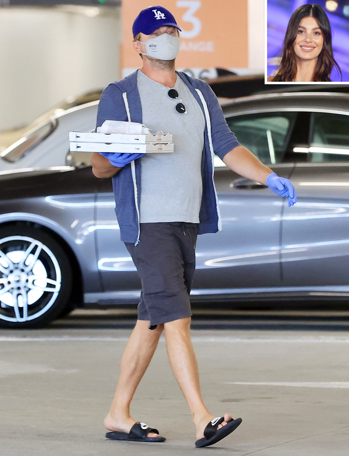 Leonardo DiCaprio looks very much domesticated as he is seen grocery shopping with his girlfriend Camilla Morrone at Eataly