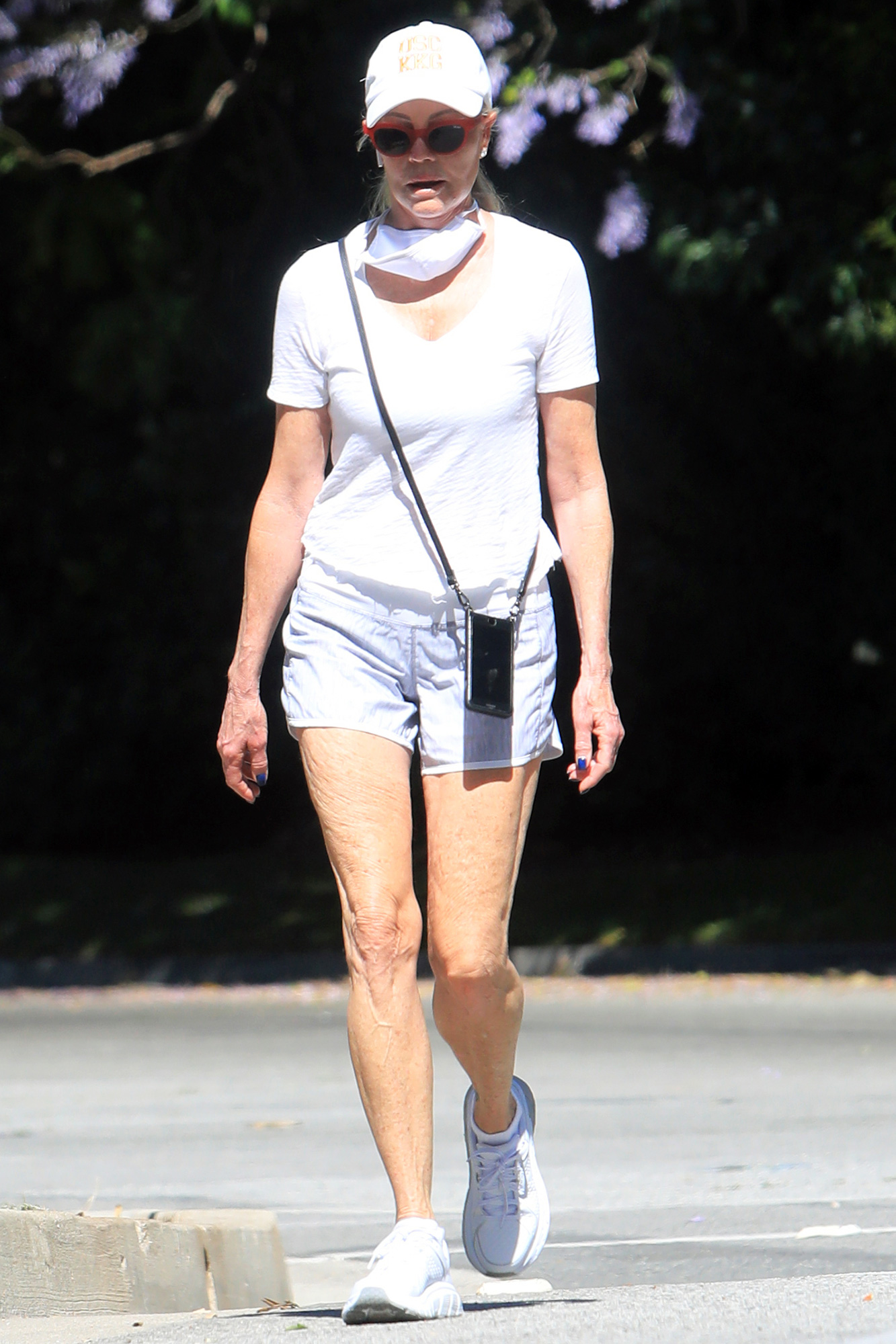 Melanie Griffith is Pictured Heading Out for a Walk in Los Angeles.