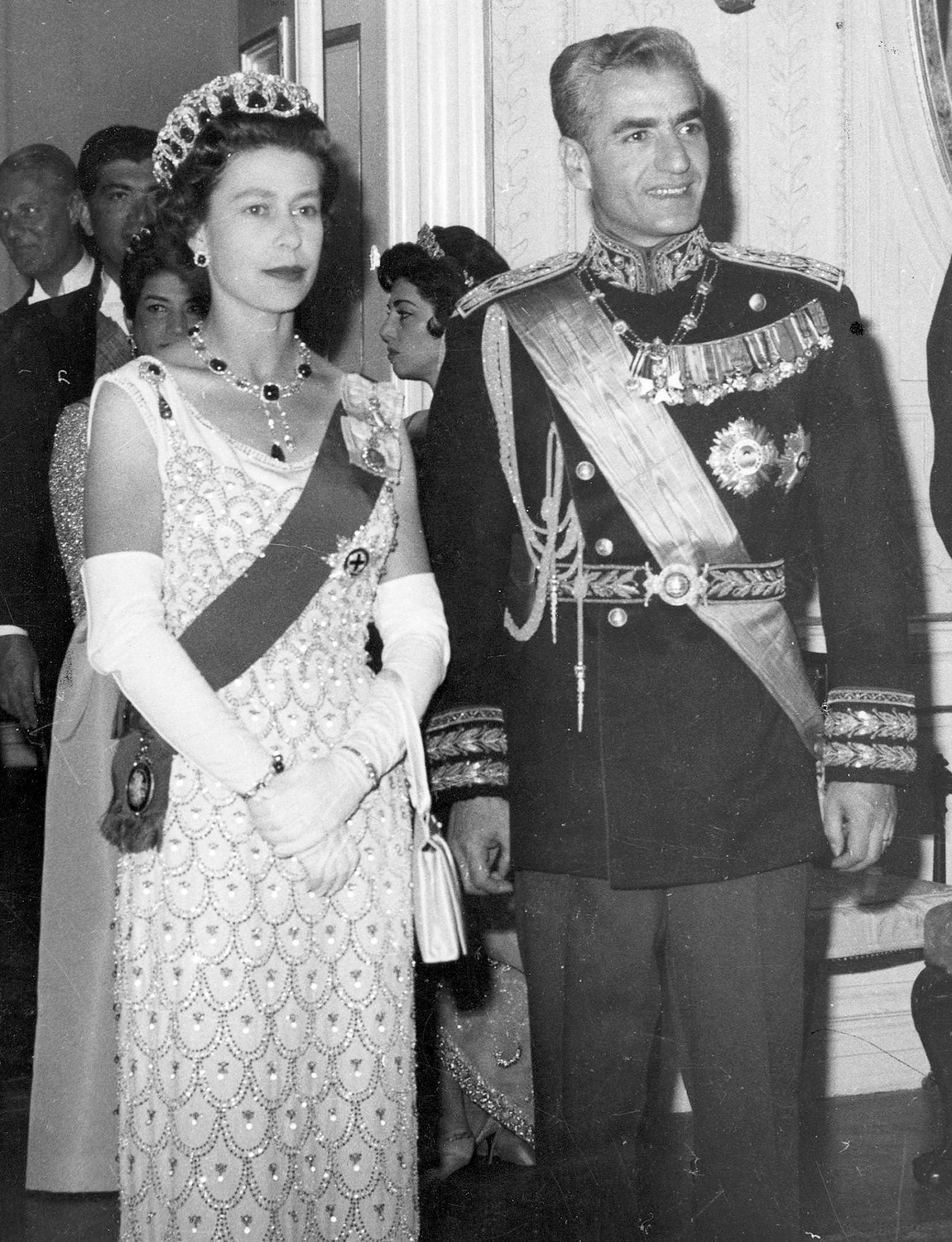 Queen Elizabeth II And Prince Philip Duke Of Edinburgh Pictured During A Royal Visit To Shah of Iran