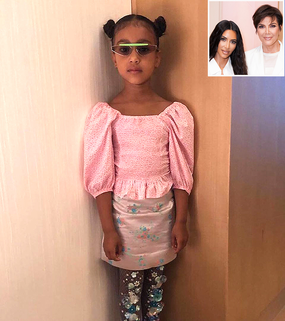 north west, kim kardashian, kris jenner