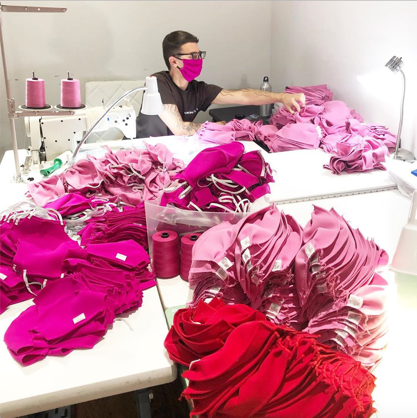 christian siriano making masks