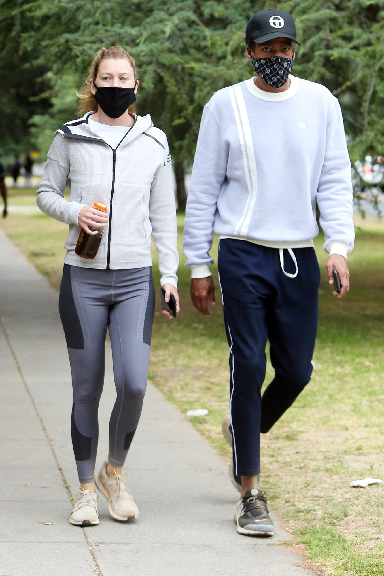 Ellen Pompeo worked up a sweat with her partner Chris Ivery
