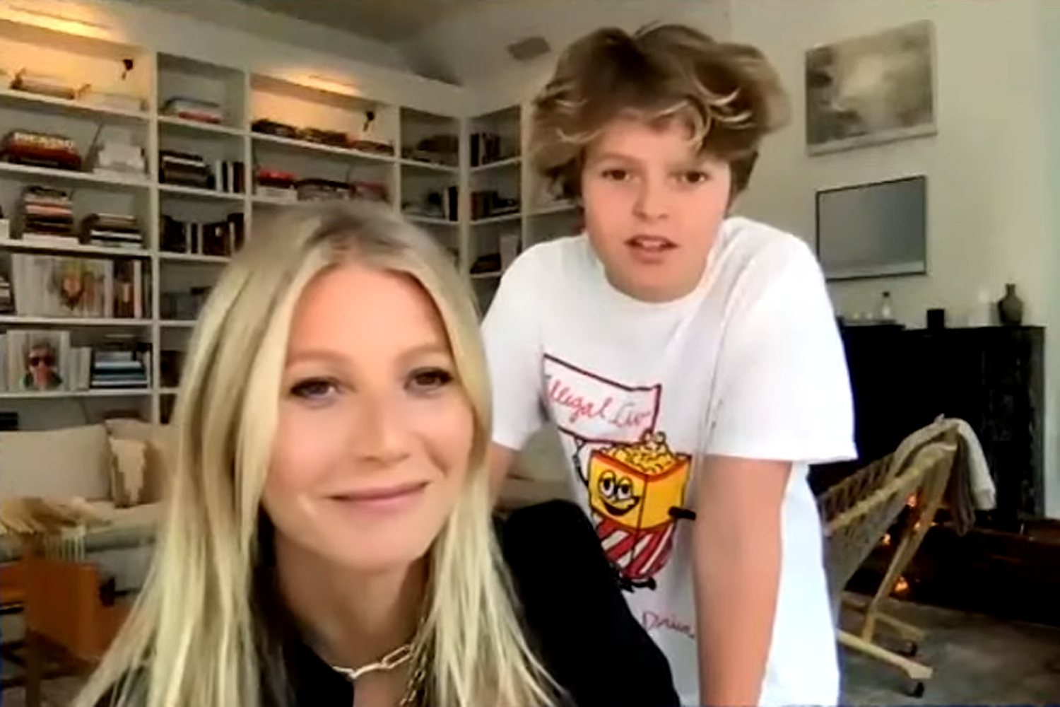 Gwyneth Paltrow's Son Moses, 14, Crashes Interview