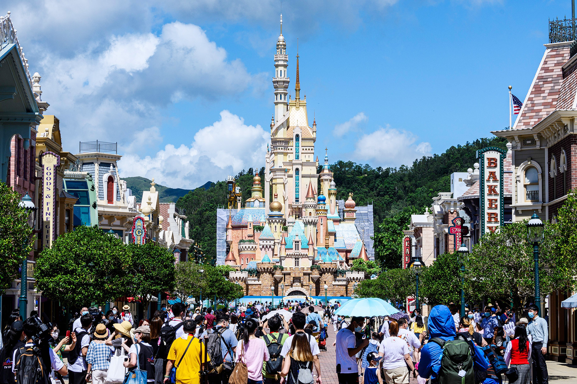 Hong Kong's Disneyland on June 18, 2020, after the theme park officially reopened