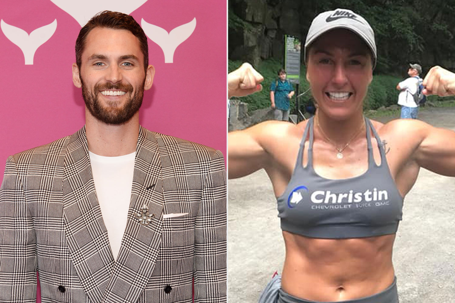 Kevin Love and Kim Clavel