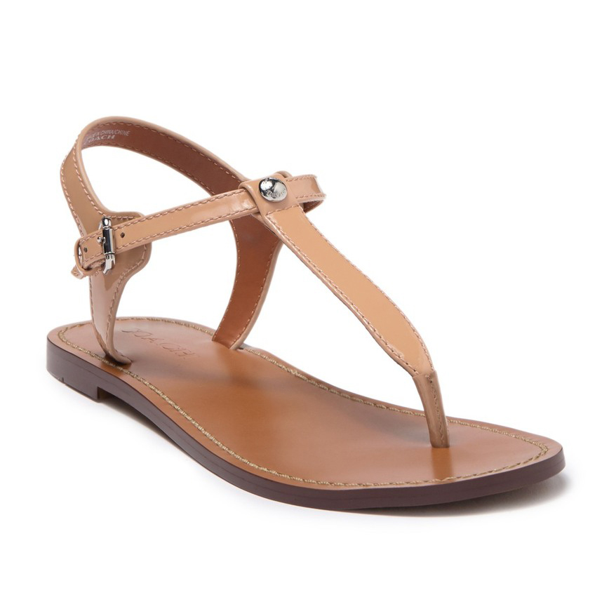 Coach Leila Leather Sandals