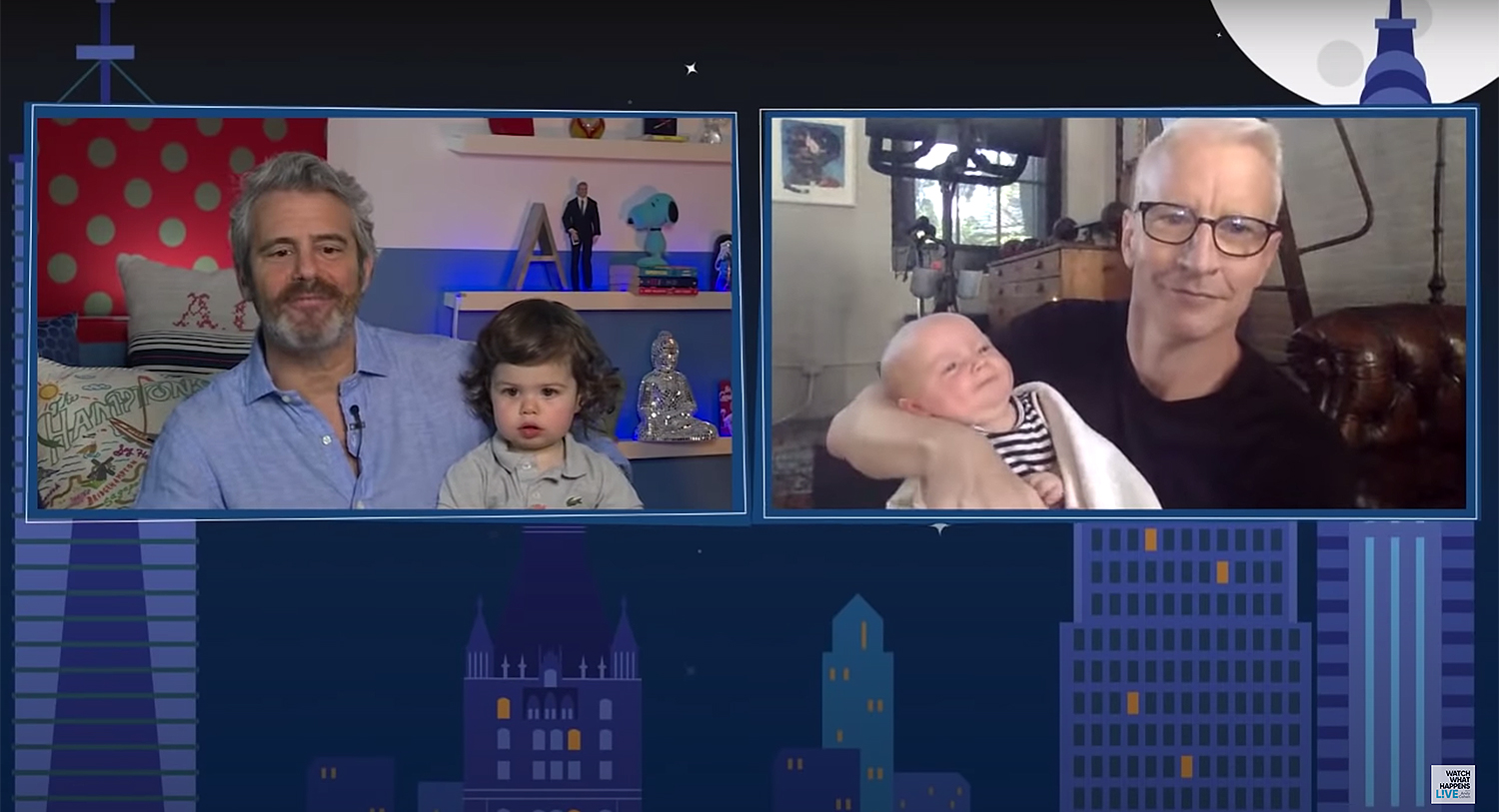Andy Cohen, Anderson Cooper babies