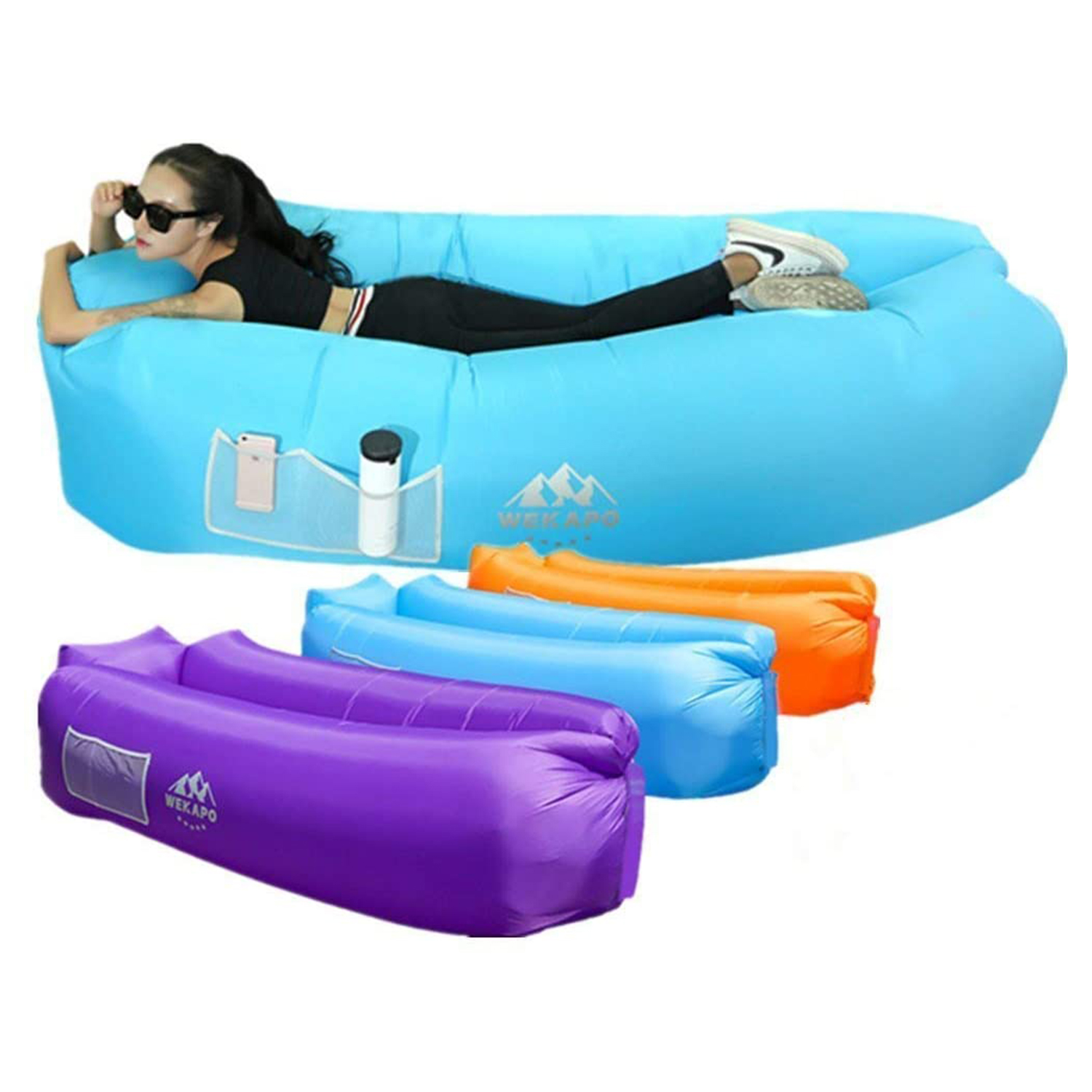 Wekapo Inflatable Lounger Air Sofa Hammock-Portable
