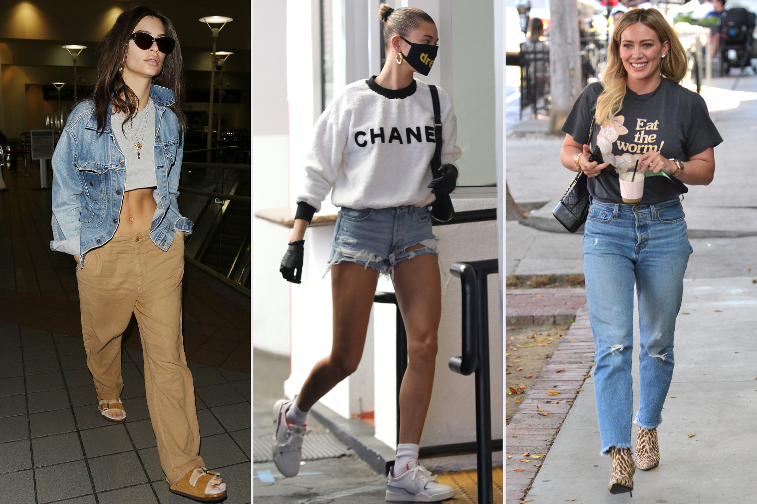 emrata; hailey bieber; hilary duff in levis