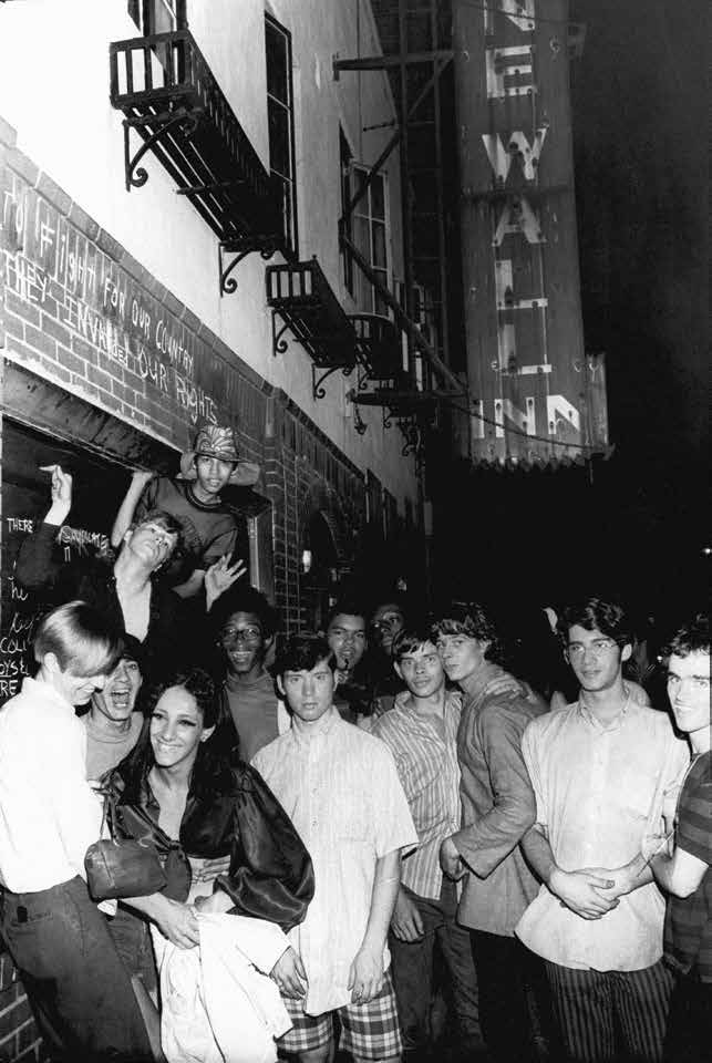 A Crowd Gathers at The Stonewall Inn