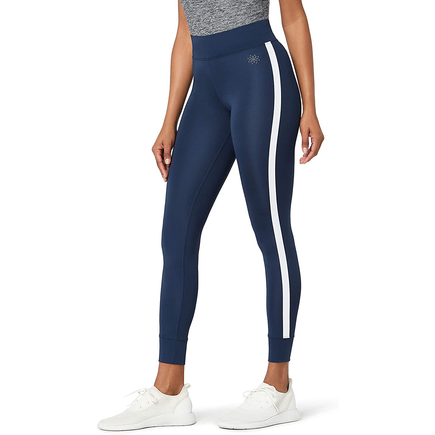 Aurique Women's Side Stripe Sports Leggings