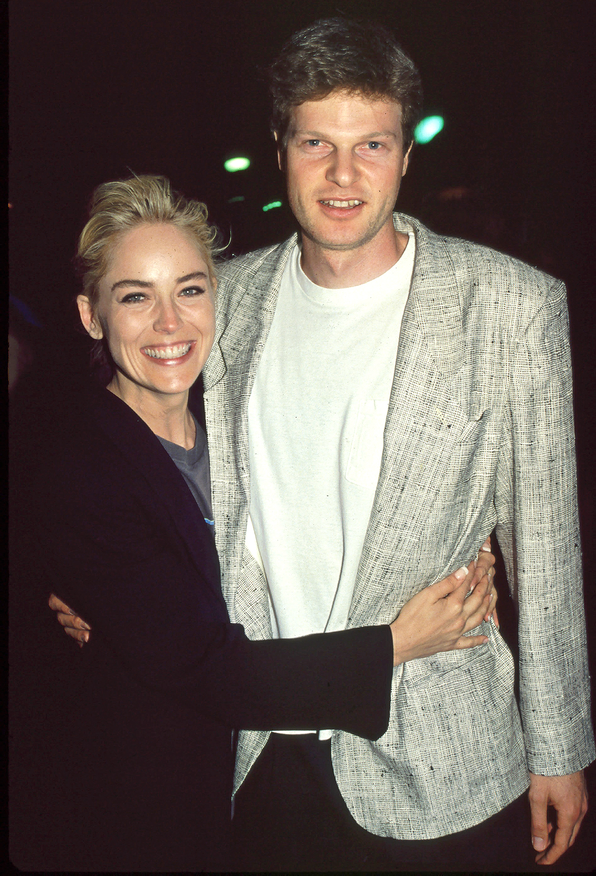 Sharon Stone and Steve Bing Archive Photos Sharon Stone and Steve Bing.