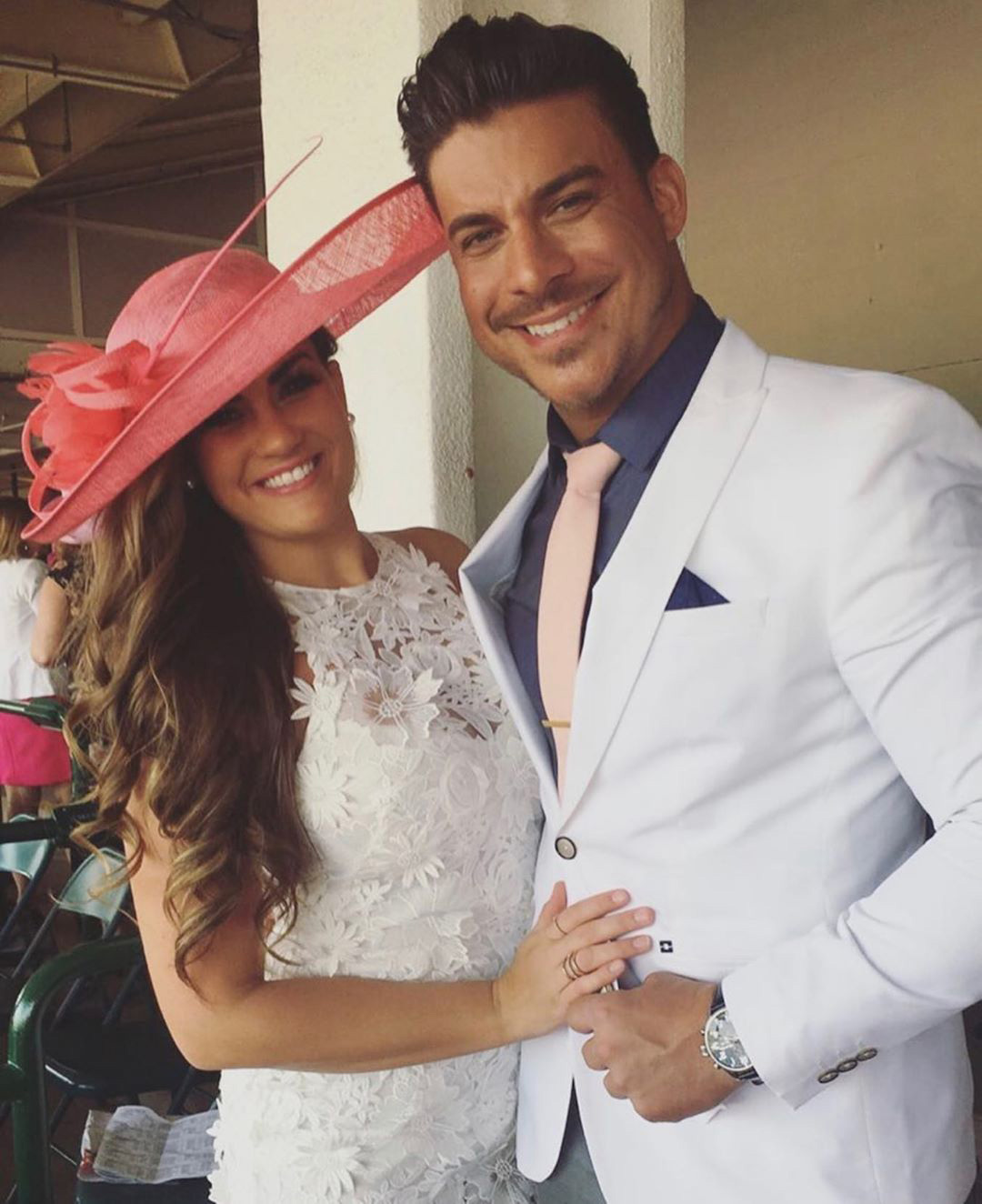 Brittany Cartwright and Jax Taylor Kentucky Derby at Home
