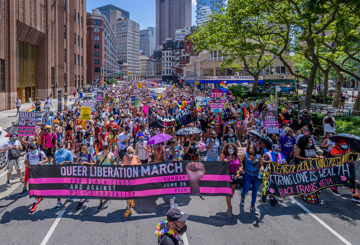 """Queer Liberation March the """"Queer Liberation March for Black Lives and Against Police Brutality"""""""
