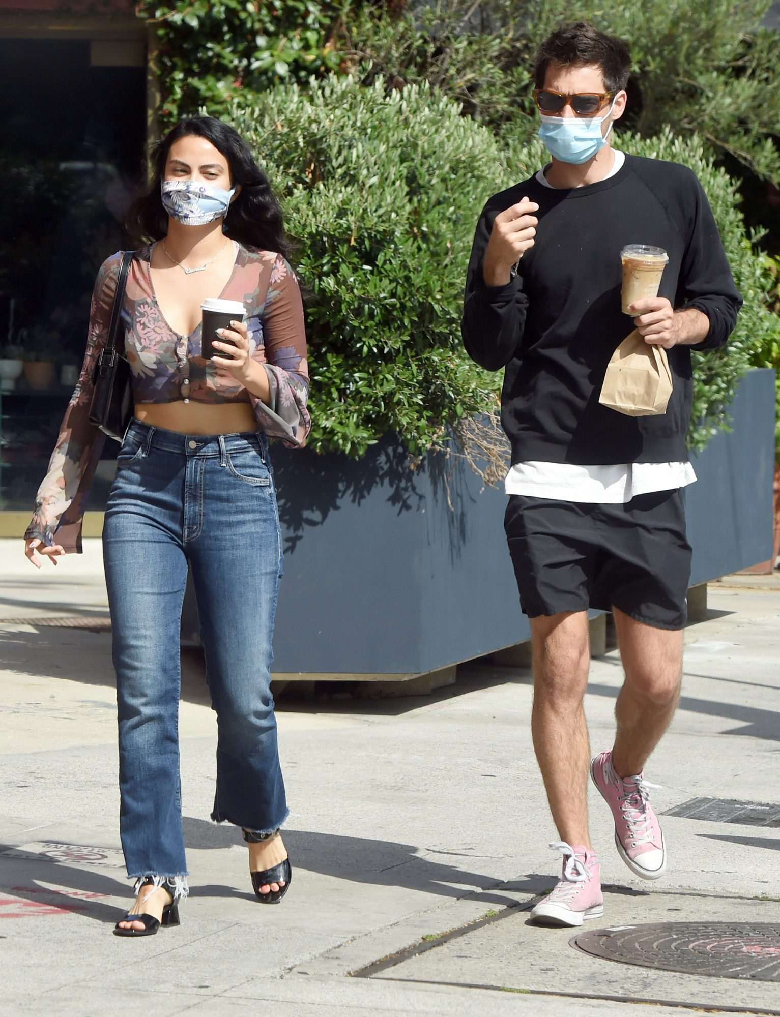 Camila Mendes and Boyfriend Grayson Vaughan Head Out for Coffee in Los Angeles.