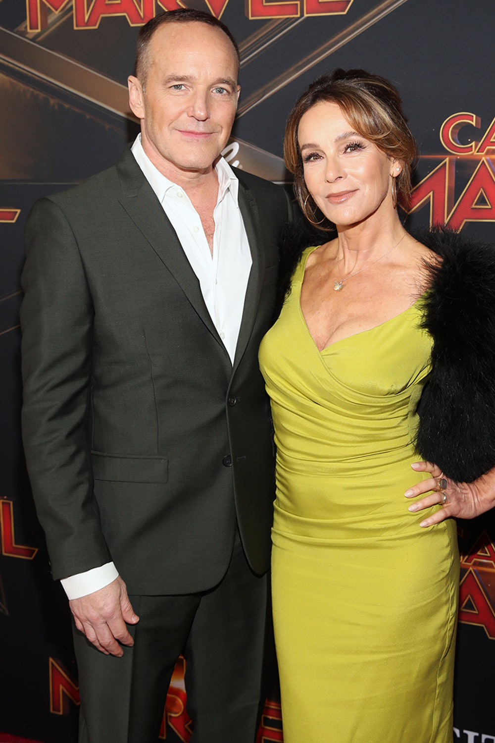 Clark Gregg and Jennifer Grey