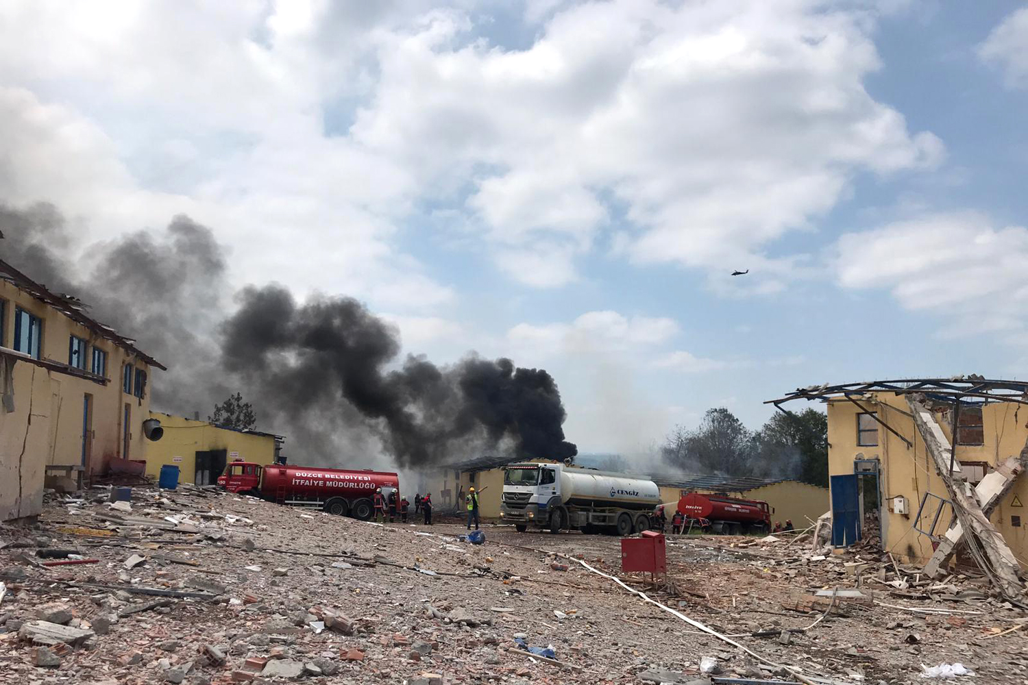 Explosion at a firework factory in Turkey