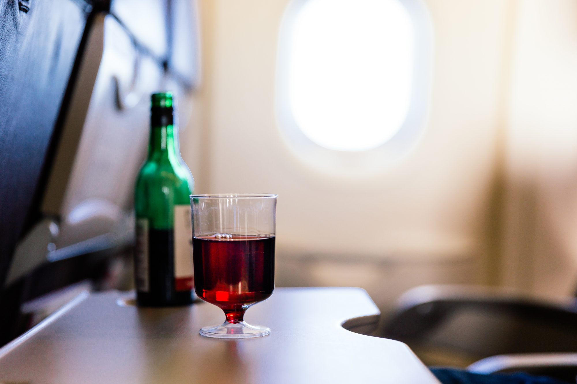wine on flight