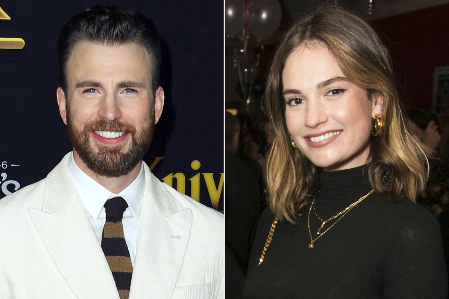 Chris Evans Lily James