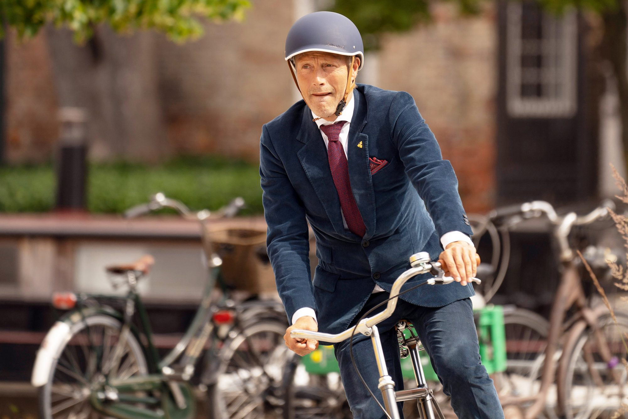 Mads Mikkelsen Films An Advert For Carlsberg In Copenhagen