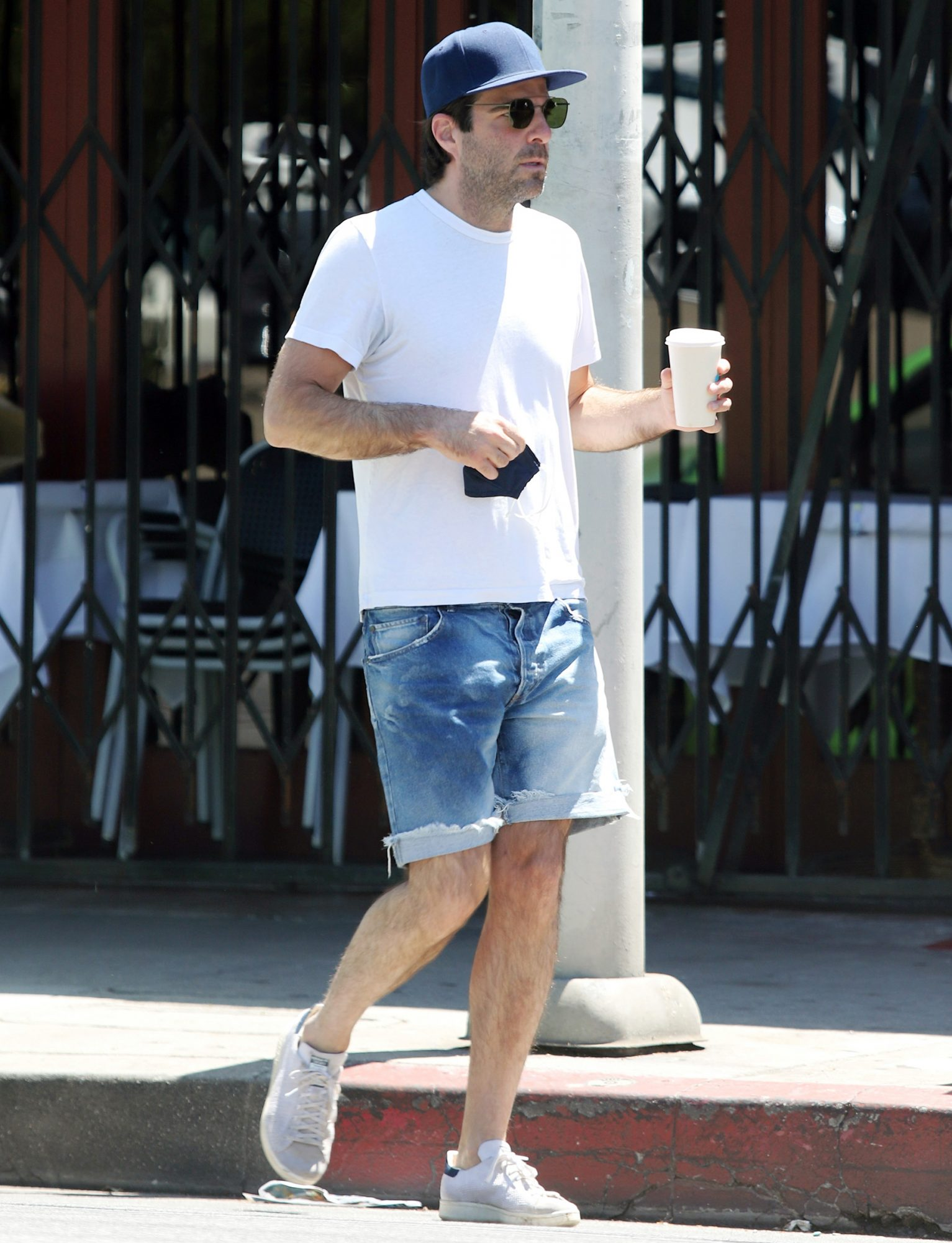 Zackary Quinto Steps Out For a Coffee Run in Los Angeles.