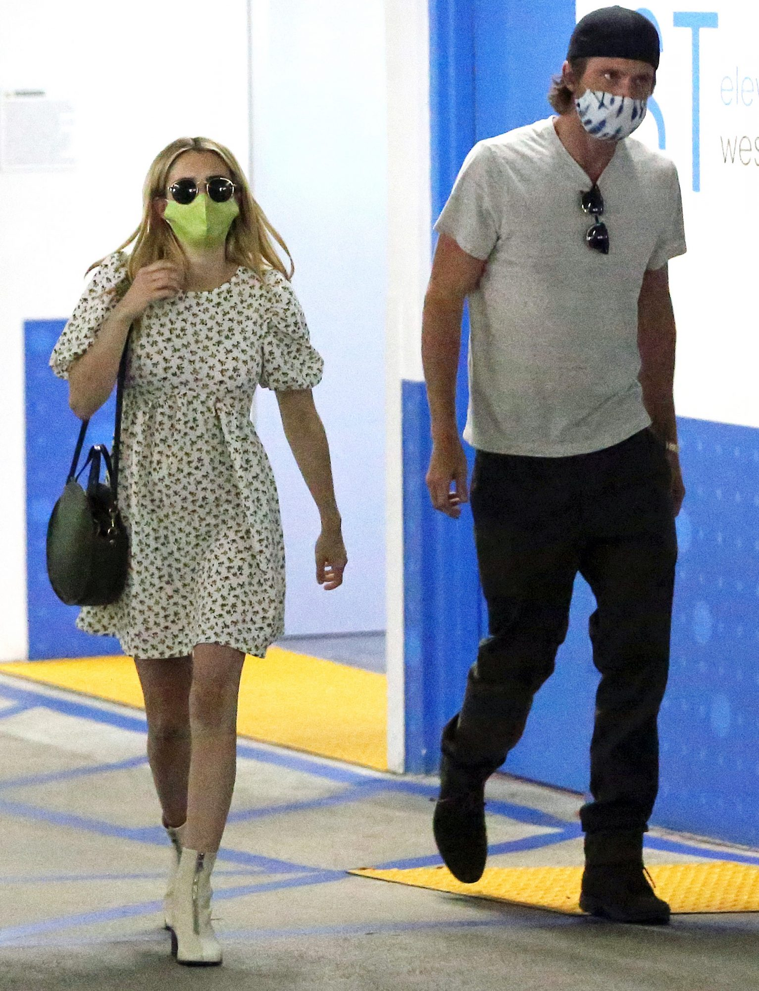 Emma Roberts and her boyfriend Garrett Hedlund go for a check up