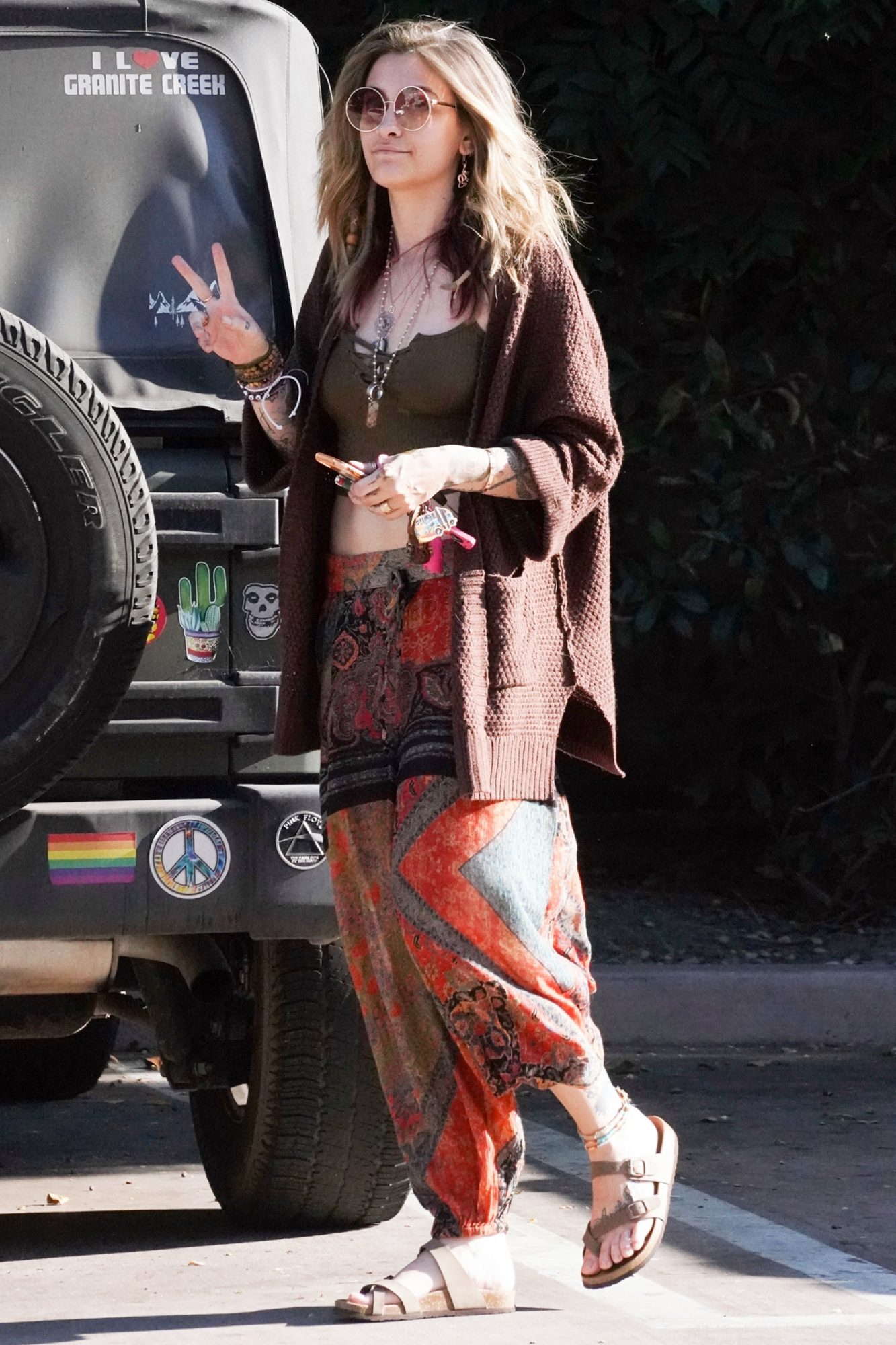 Paris Jackson spreads peace as she goes shopping at Walgreens